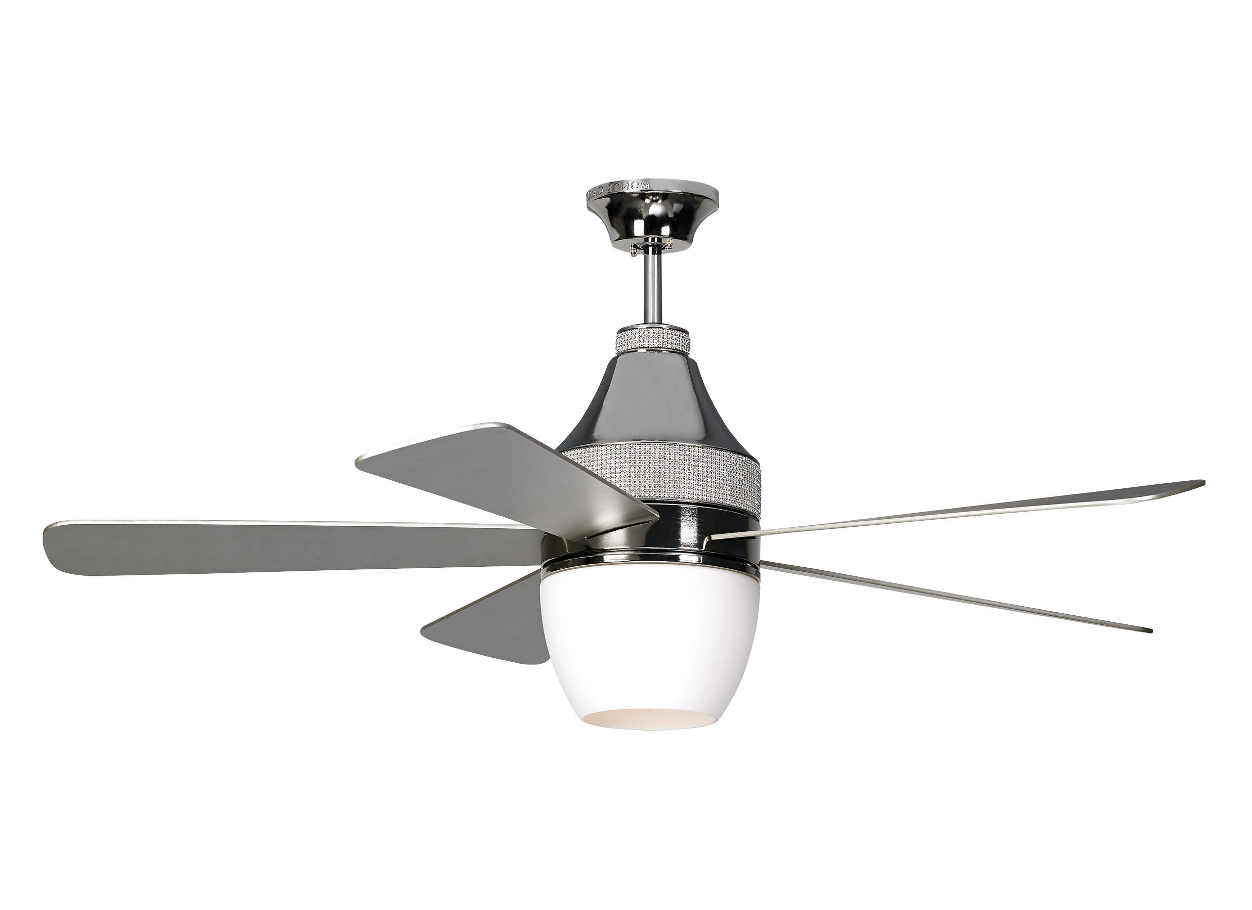 "5nkr52pnd,52"" Nikki – Polished Nickel,polished Nickel Pertaining To Preferred Nikki 3 Blade Ceiling Fans (View 3 of 20)"