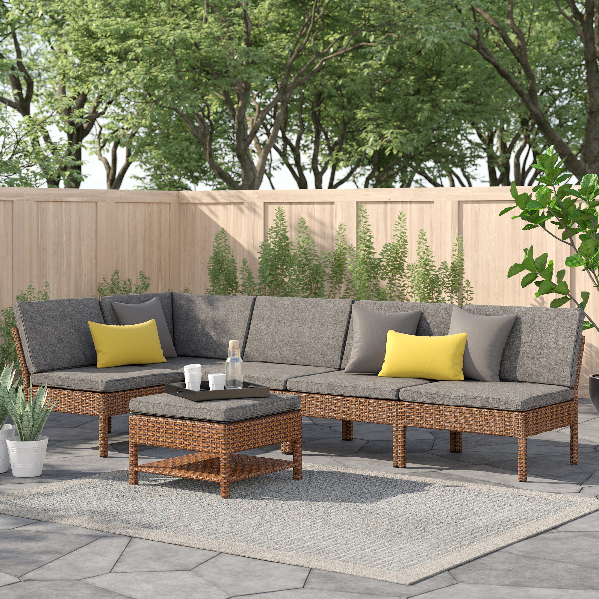 6 Piece Outdoor Sectional You'll Love In  (View 2 of 20)
