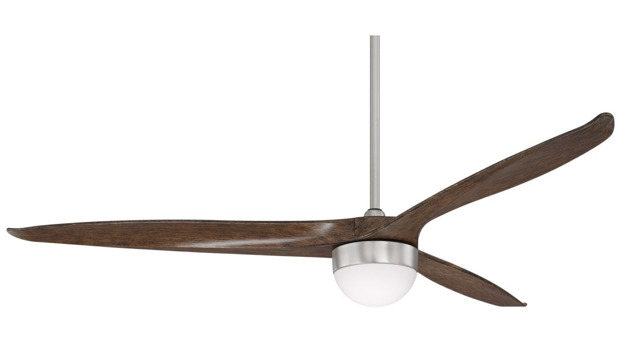 "60 Aviation 3 Blade Ceiling Fans Throughout Well Liked 60"" Tri Lago Brushed Nickel Led Ceiling Fan (View 6 of 20)"