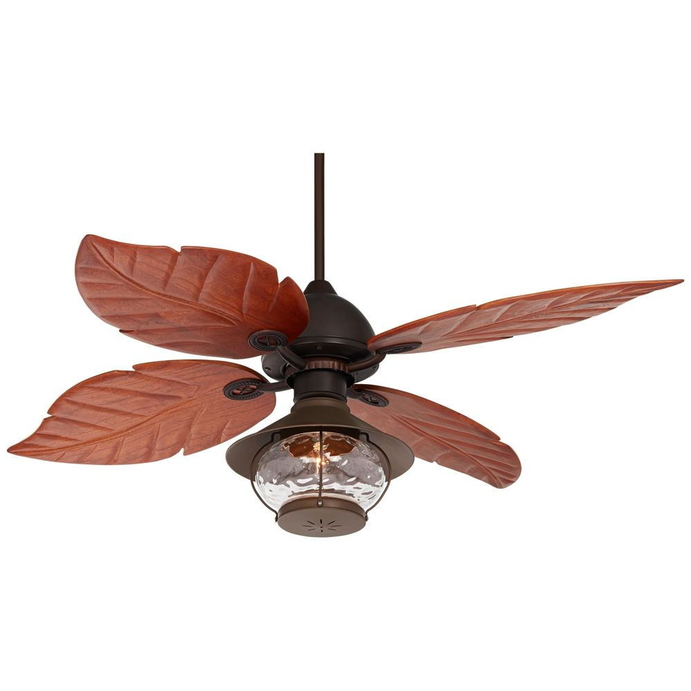 "60"" Casa Oak Creek Tropical Lantern Damp Rated Ceiling Fan With Well Known Kalista 5 Blade Ceiling Fans (View 12 of 20)"