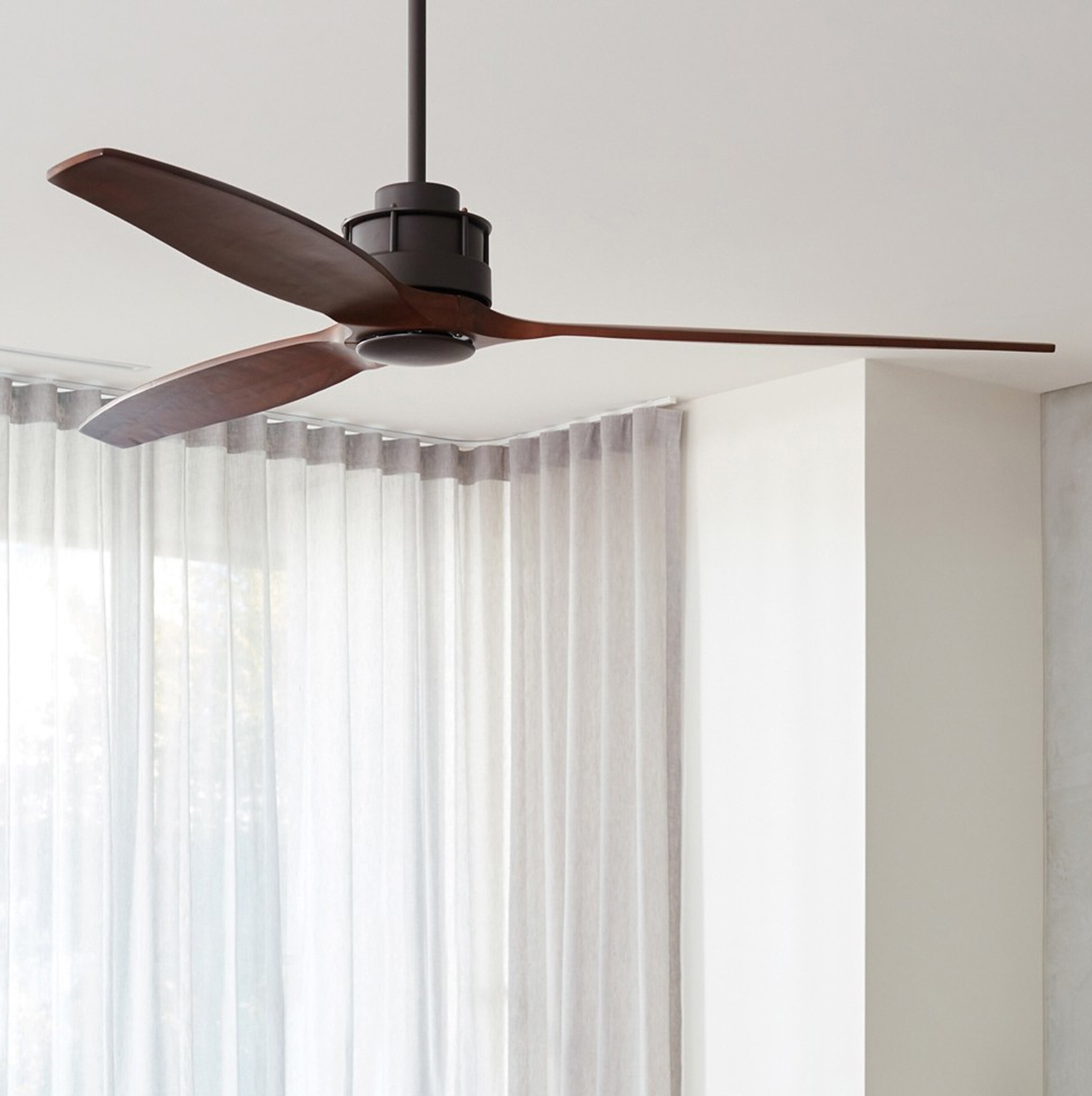 """60"""" Hutton Akmani 3 Blade Smart Ceiling Fan With Remote With Regard To Current 60 Aviation 3 Blade Ceiling Fans (View 4 of 20)"""