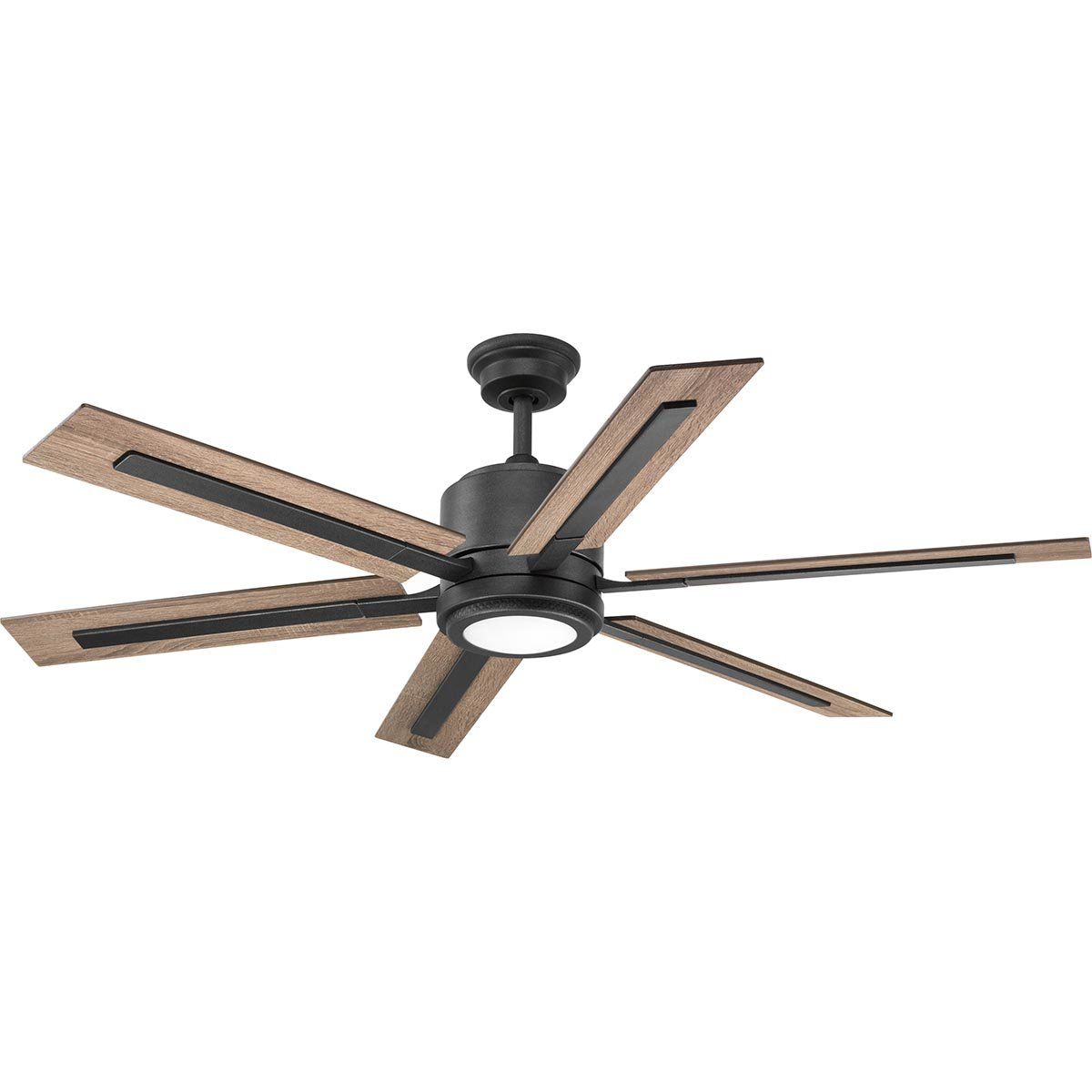 "60"" Lesure 6 Blade Led Ceiling Fan With Remote, Light Kit Included Throughout Trendy Heskett 3 Blade Led Ceiling Fans (View 8 of 20)"