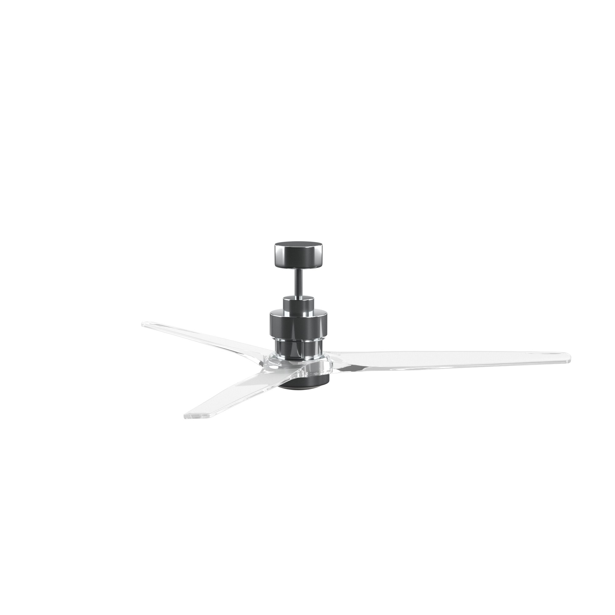 """60"""" Mcdaniels 3 Blade Ceiling Fan With Remote, Light Kit Included Intended For Favorite Corsa 3 Blade Ceiling Fans (View 6 of 20)"""