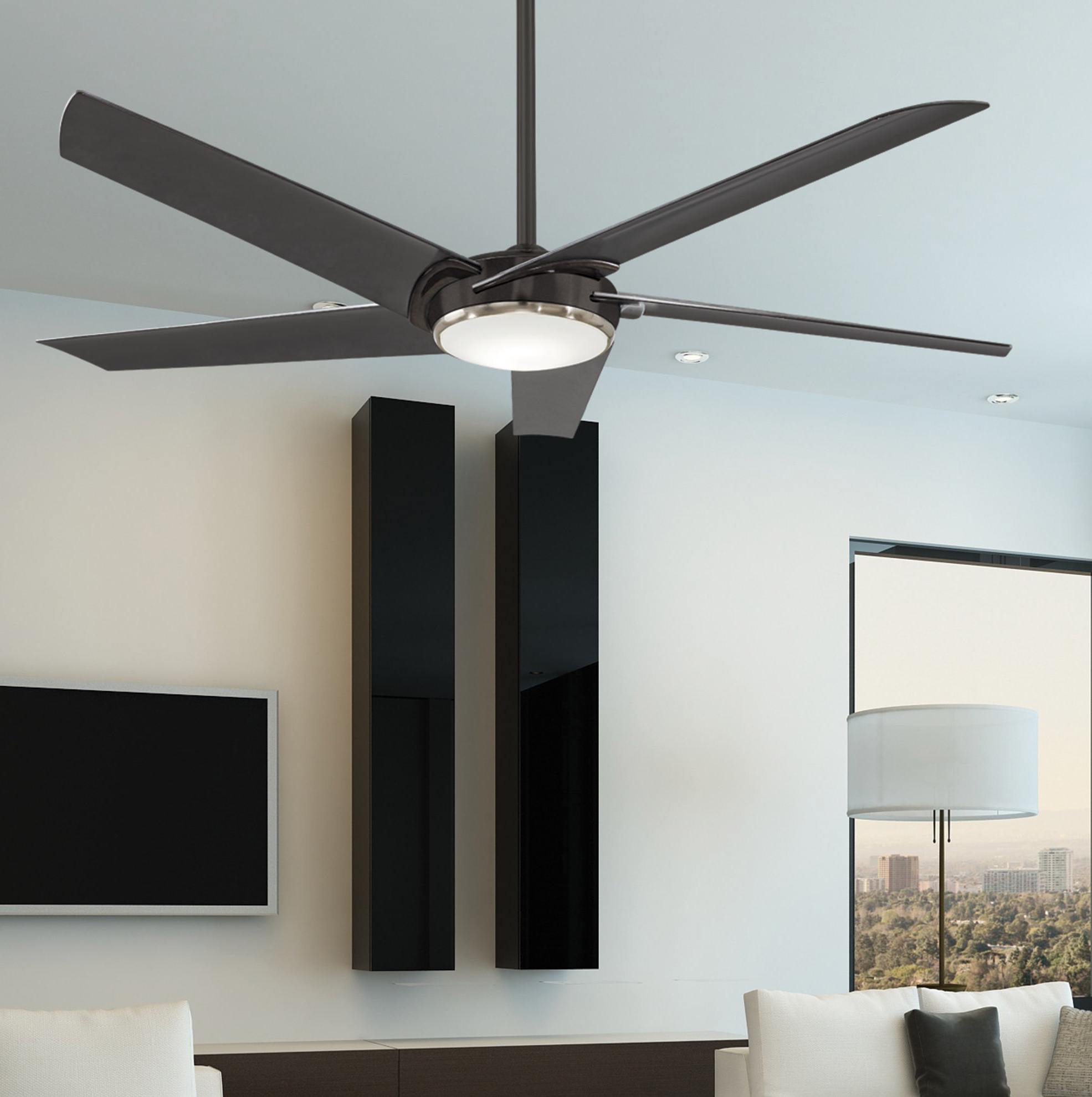 "60"" Raptor 5 Blade Ceiling Fan With Remote Light Kit Included Inside Widely Used Raptor 5 Blade Ceiling Fans (View 2 of 20)"