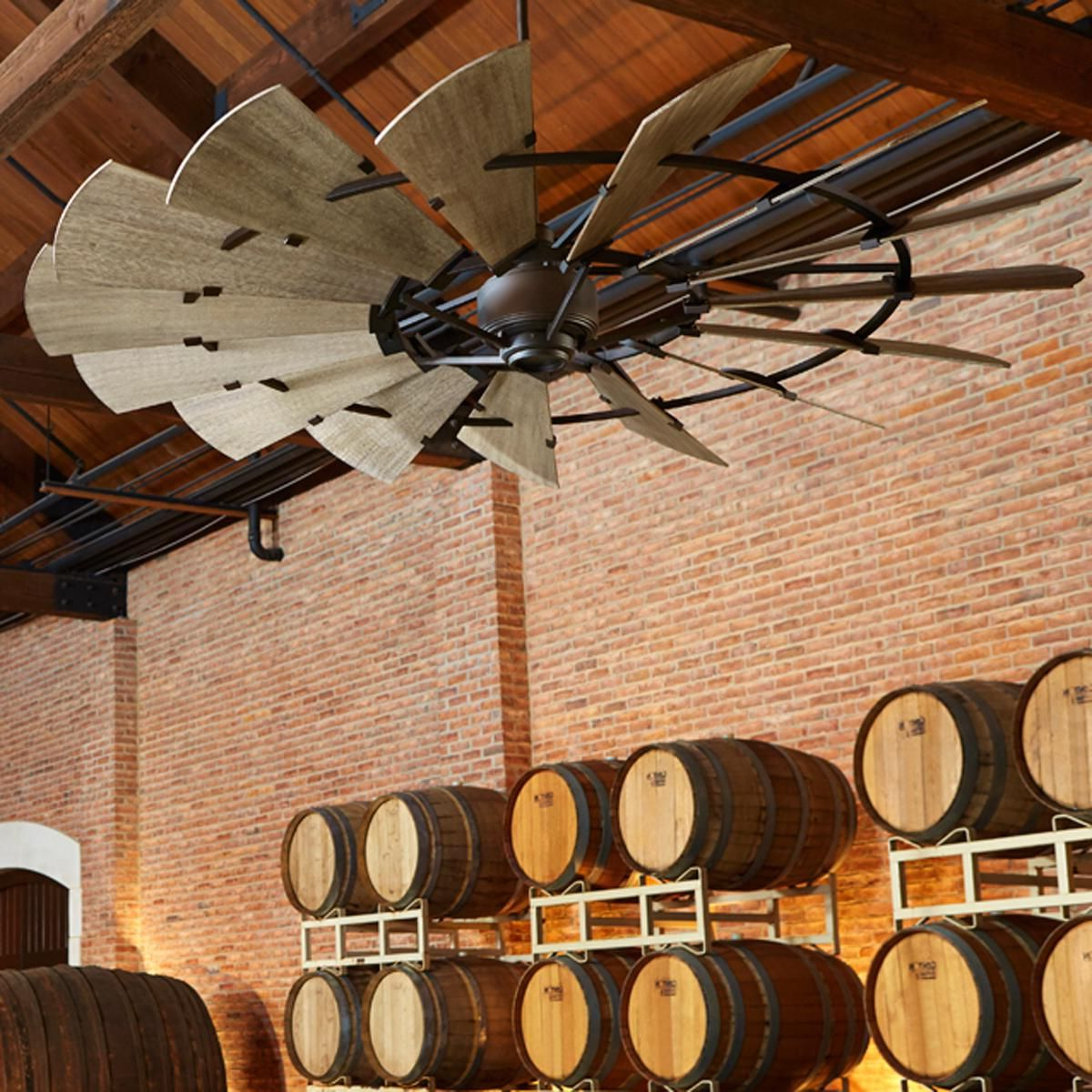 "60"" Rustic Windmill Ceiling Fan (View 3 of 20)"