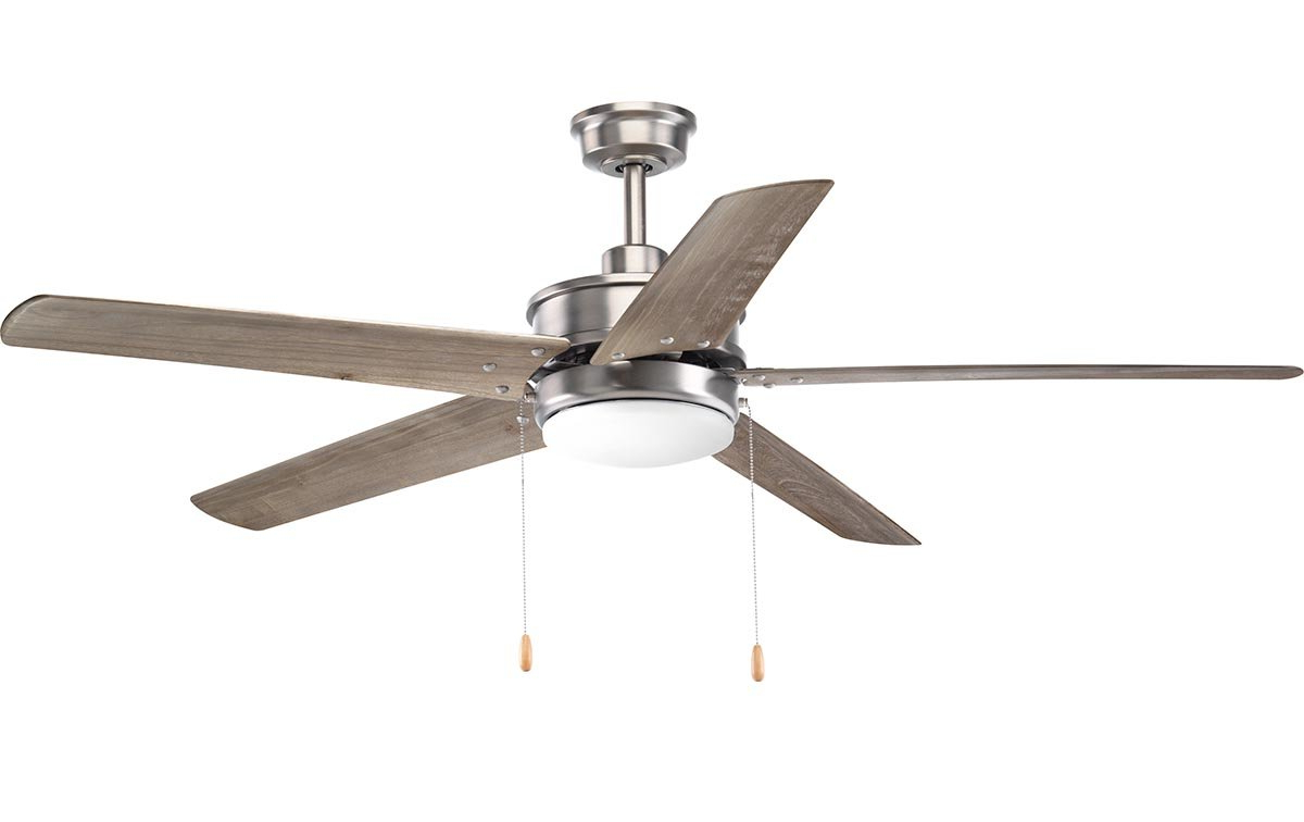 """60"""" Vanegas 5 Blade Outdoor Led Ceiling Fan With Well Liked Calkins 5 Blade Ceiling Fans (View 7 of 20)"""