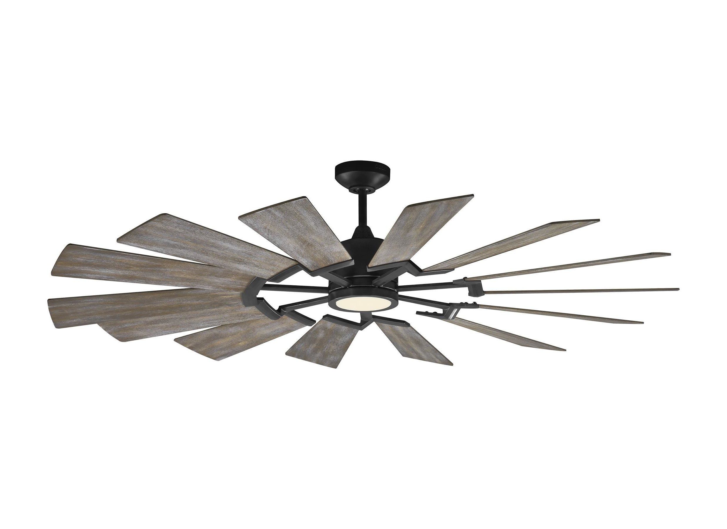 "62"" Kucharski 14 Blade Led Ceiling Fan, Light Kit Included With Well Known Joanne Windmill 15 Blade Ceiling Fans (View 11 of 20)"