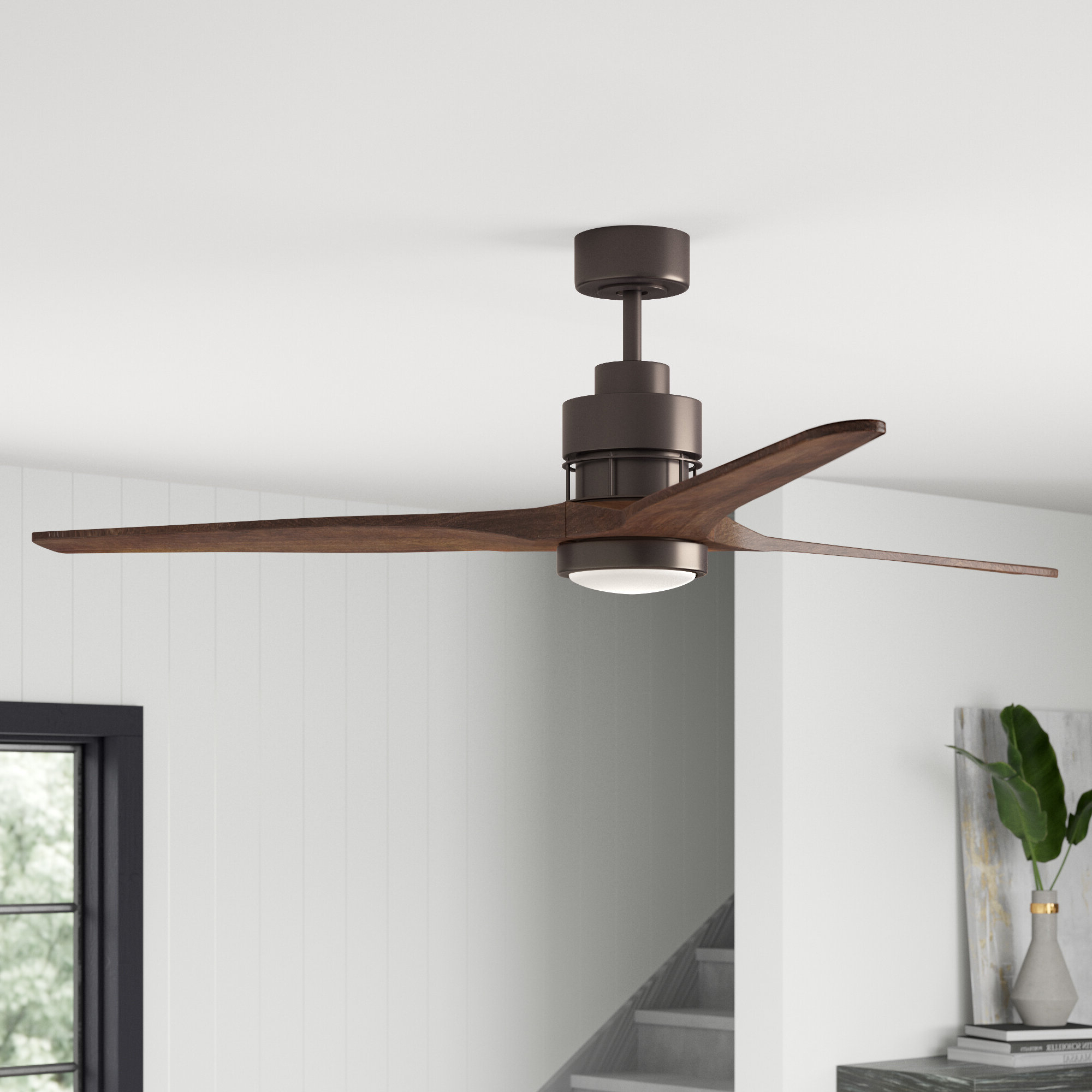 """70"""" Mcdaniels 3 Blade Led Ceiling Fan With Remote, Light Kit Included Inside Most Popular Corsa 3 Blade Ceiling Fans (Gallery 12 of 20)"""