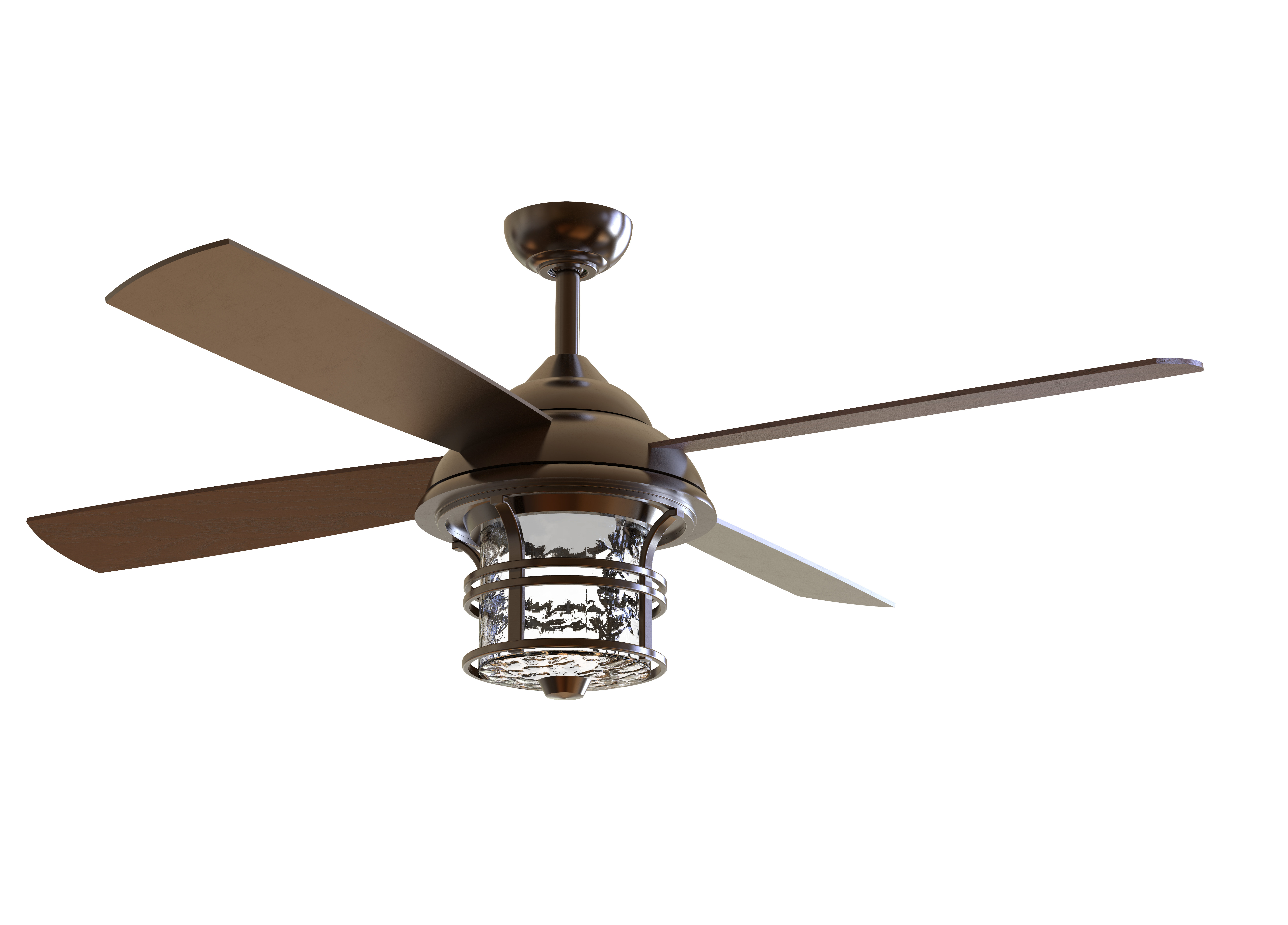 """Acero Retro 3 Blade Led Ceiling Fans Inside Well Known 56"""" Concetta 4 Blade Led Ceiling Fan With Remote, Light Kit Included (View 6 of 20)"""