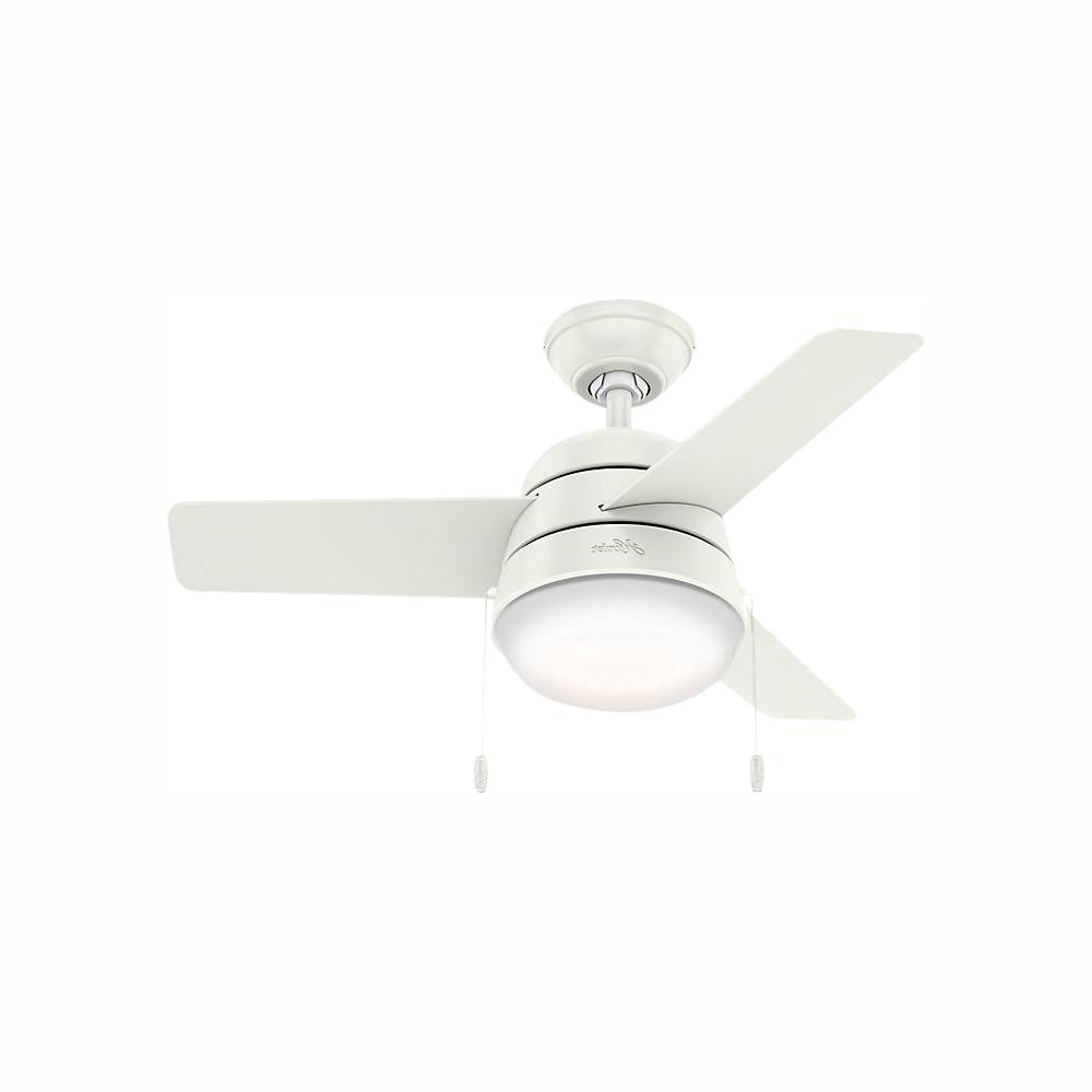 Aker 3 Blade Led Ceiling Fans In Best And Newest Hunter Aker 36 In (View 2 of 20)