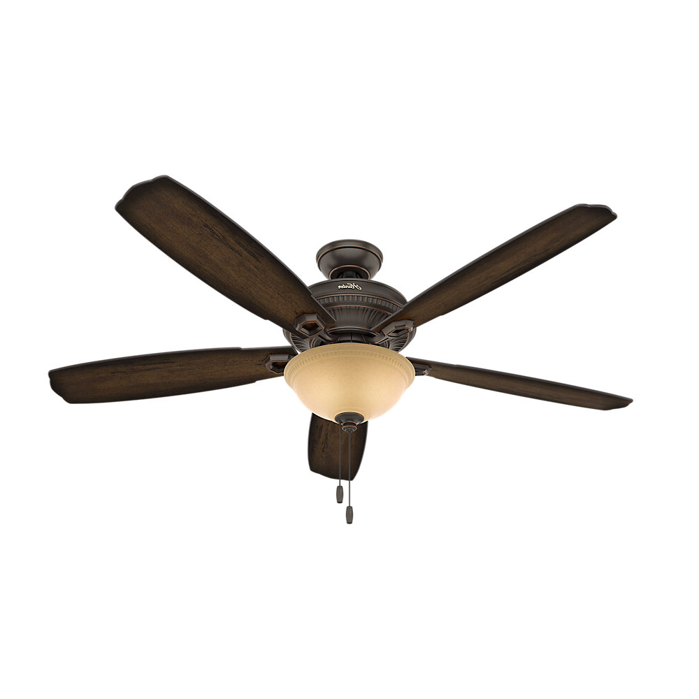 "Aker 3 Blade Led Ceiling Fans Throughout 2020 60"" Ambrose Bowl Light 5 Blade Ceiling Fan With Remote, Light Kit Included (View 5 of 20)"