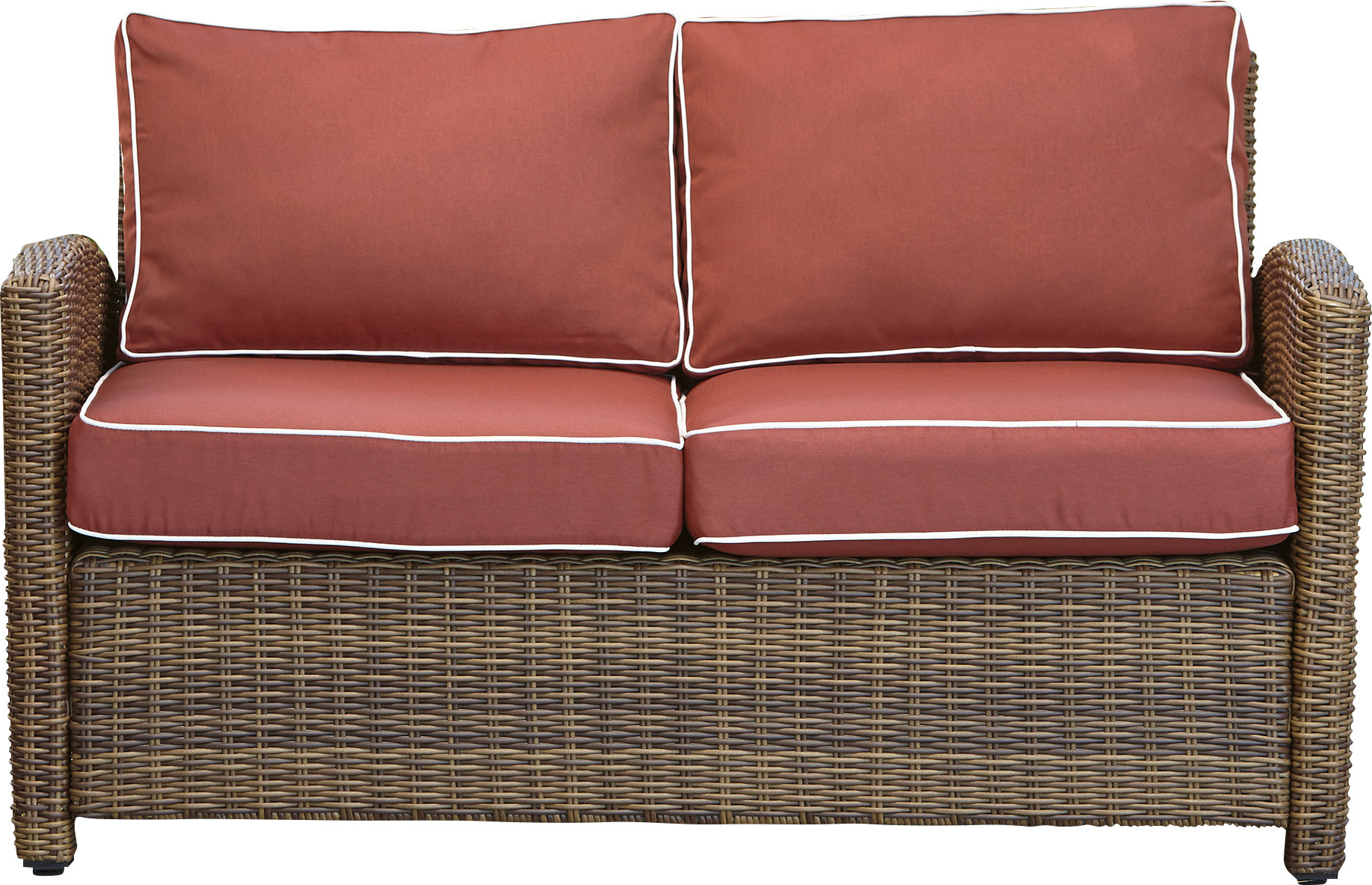 Alburg Loveseats With Cushions For Preferred Lawson Wicker Loveseat With Cushions (View 18 of 25)