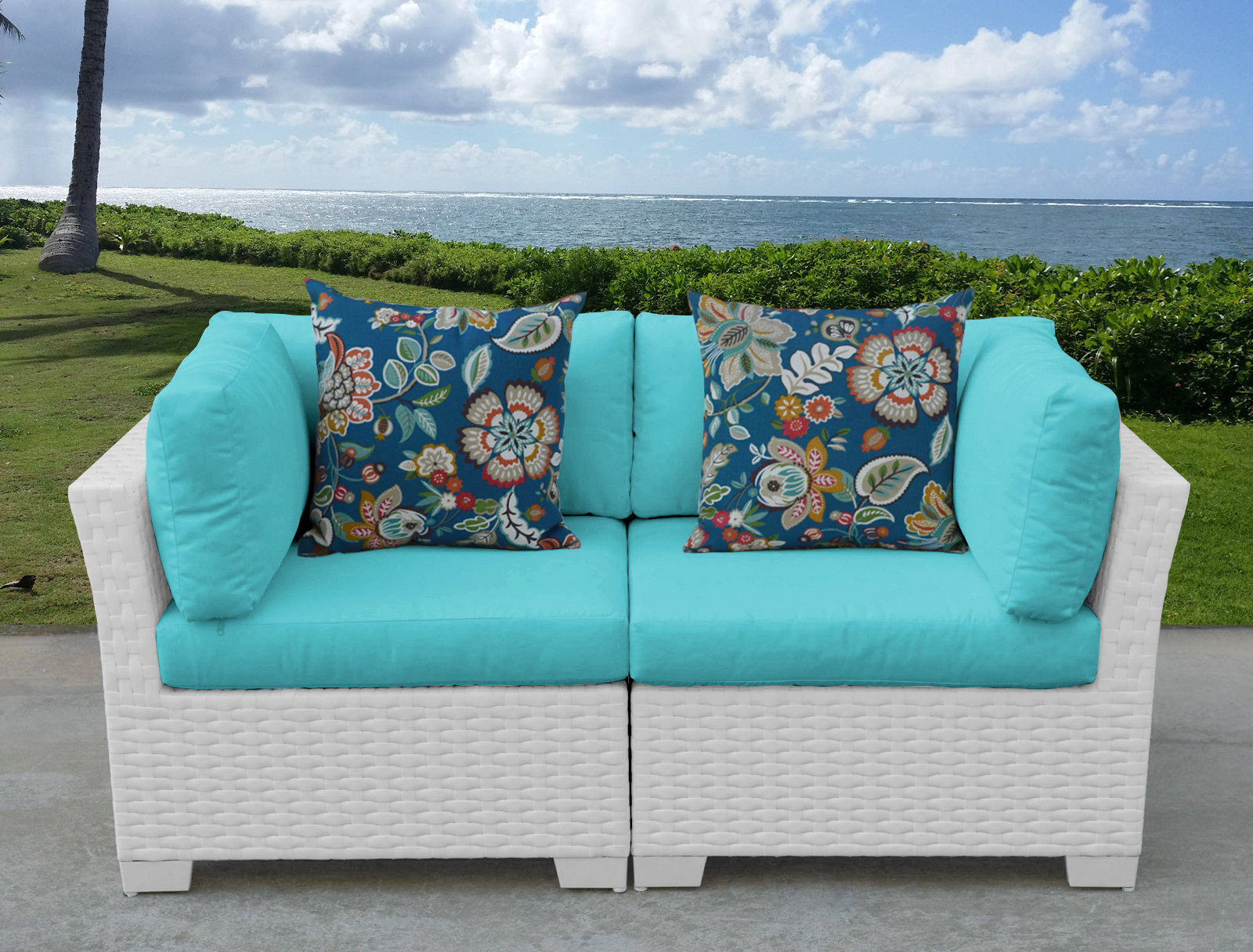 Alburg Loveseats With Cushions Inside Most Recent Monaco Outdoor Loveseat With Cushions (View 4 of 25)