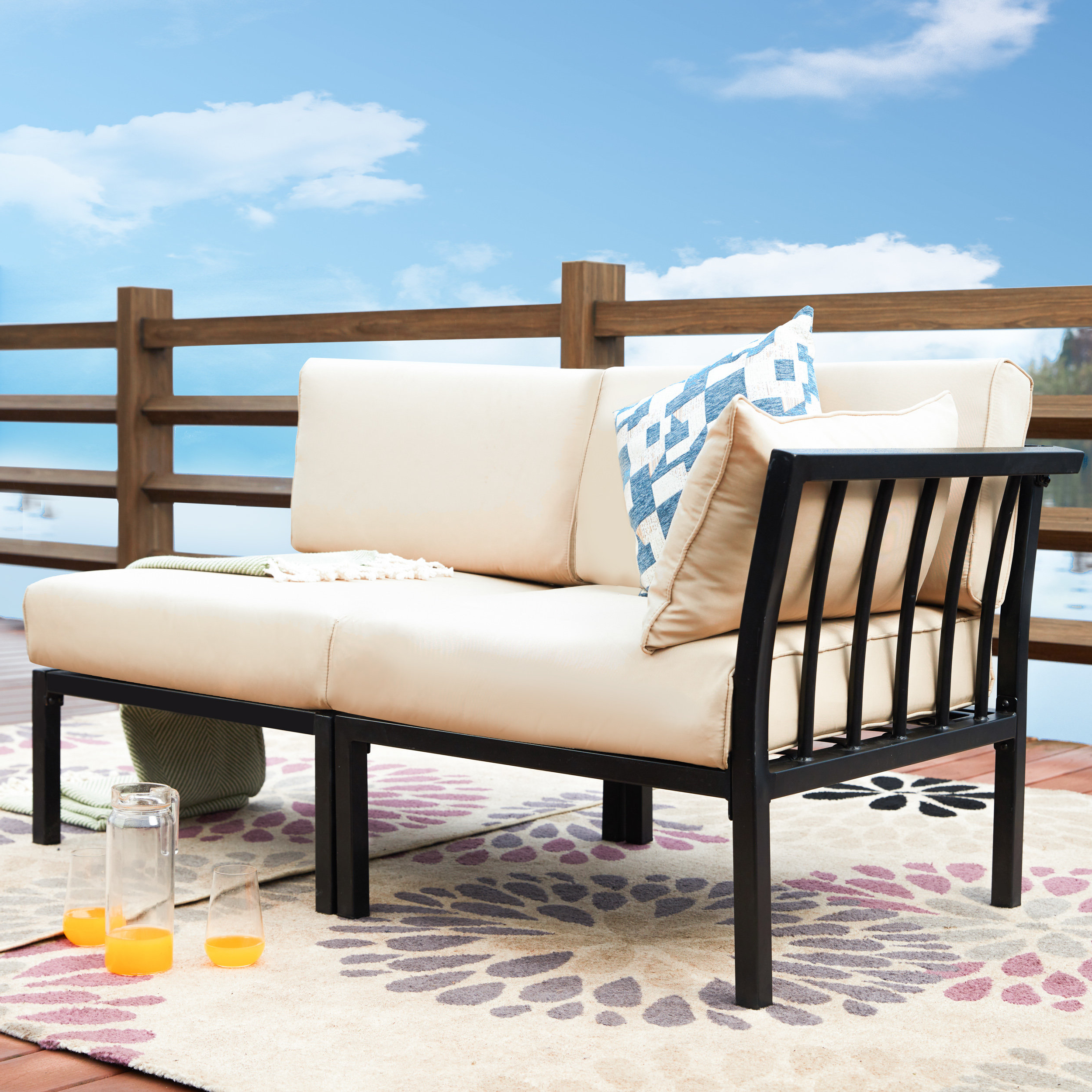 Alcott Hill Owens Loveseat With Cushion With Famous Laverton Loveseats With Cushions (View 1 of 20)