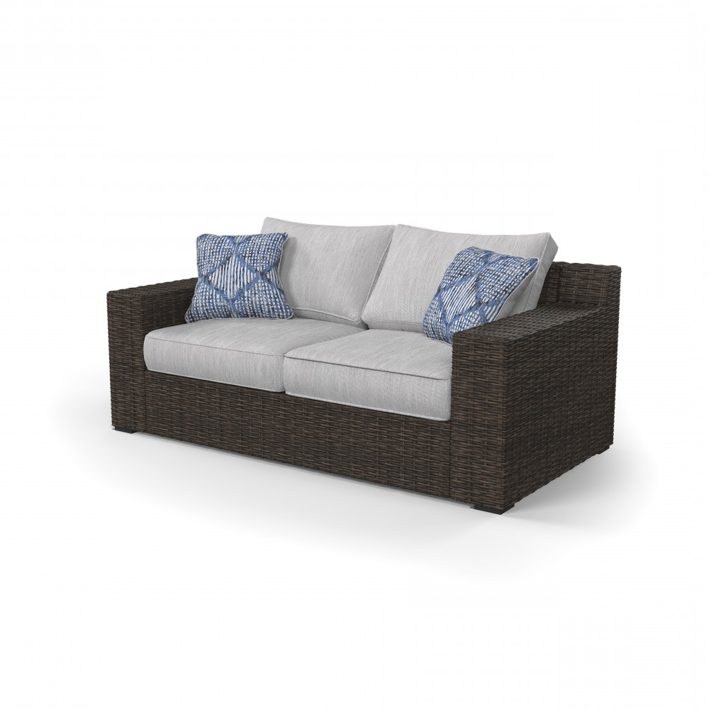 Alta Grande – Beige/brown – Loveseat W/cushion Within Well Liked Clifford Loveseats With Cushion (View 1 of 20)