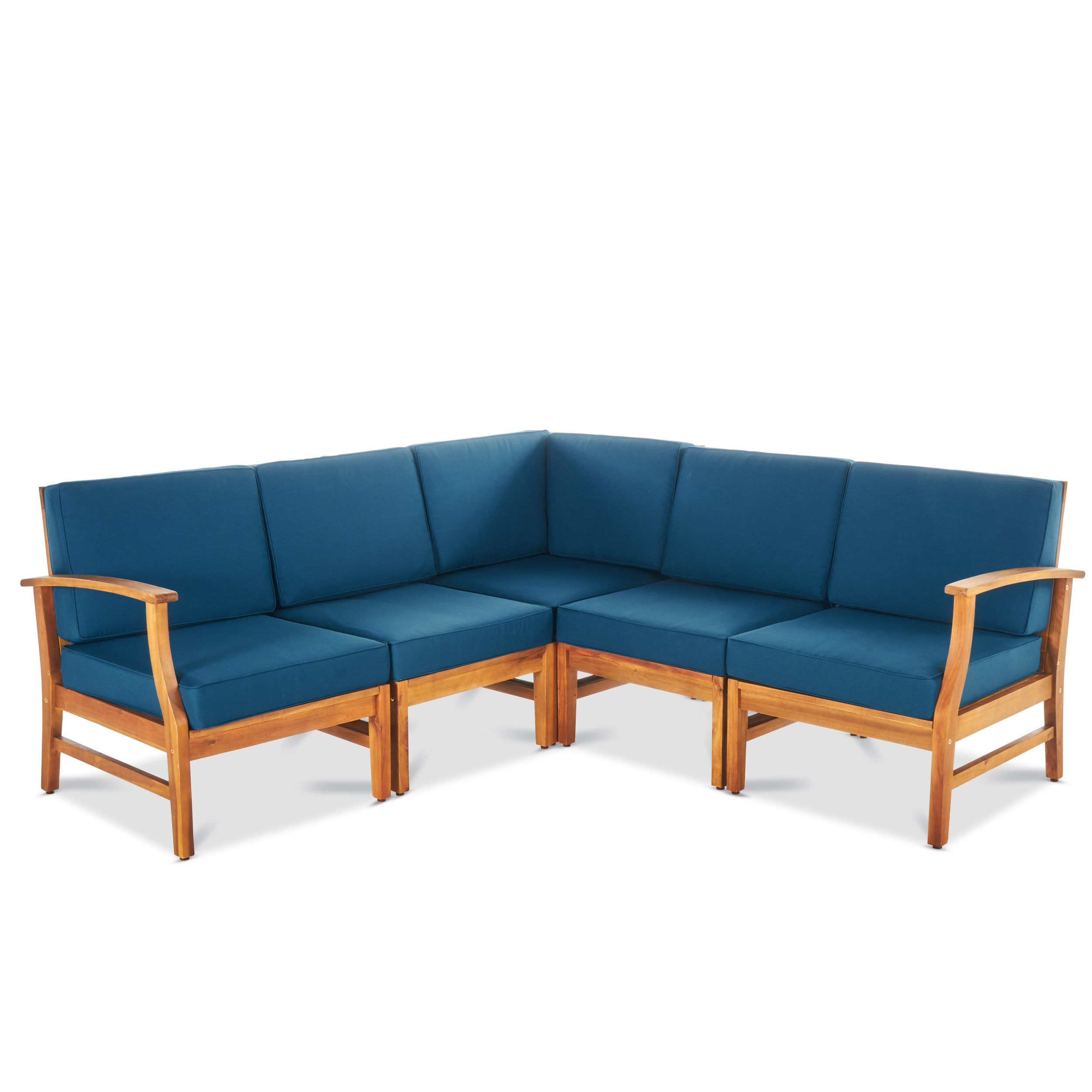 Antonia Teak Patio Sectional With Cushions Regarding Most Current Antonia Teak Patio Sectionals With Cushions (View 1 of 25)
