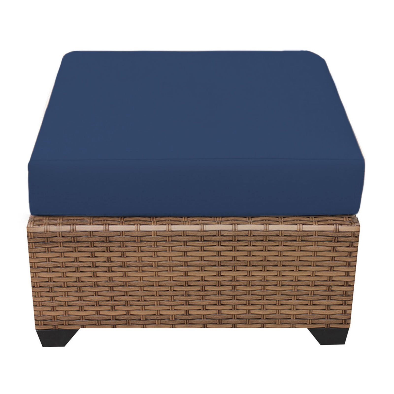 Avadi Outdoor Sofas & Ottomans 3 Piece Set Intended For Fashionable Waterbury Ottoman With Cushion (View 6 of 25)