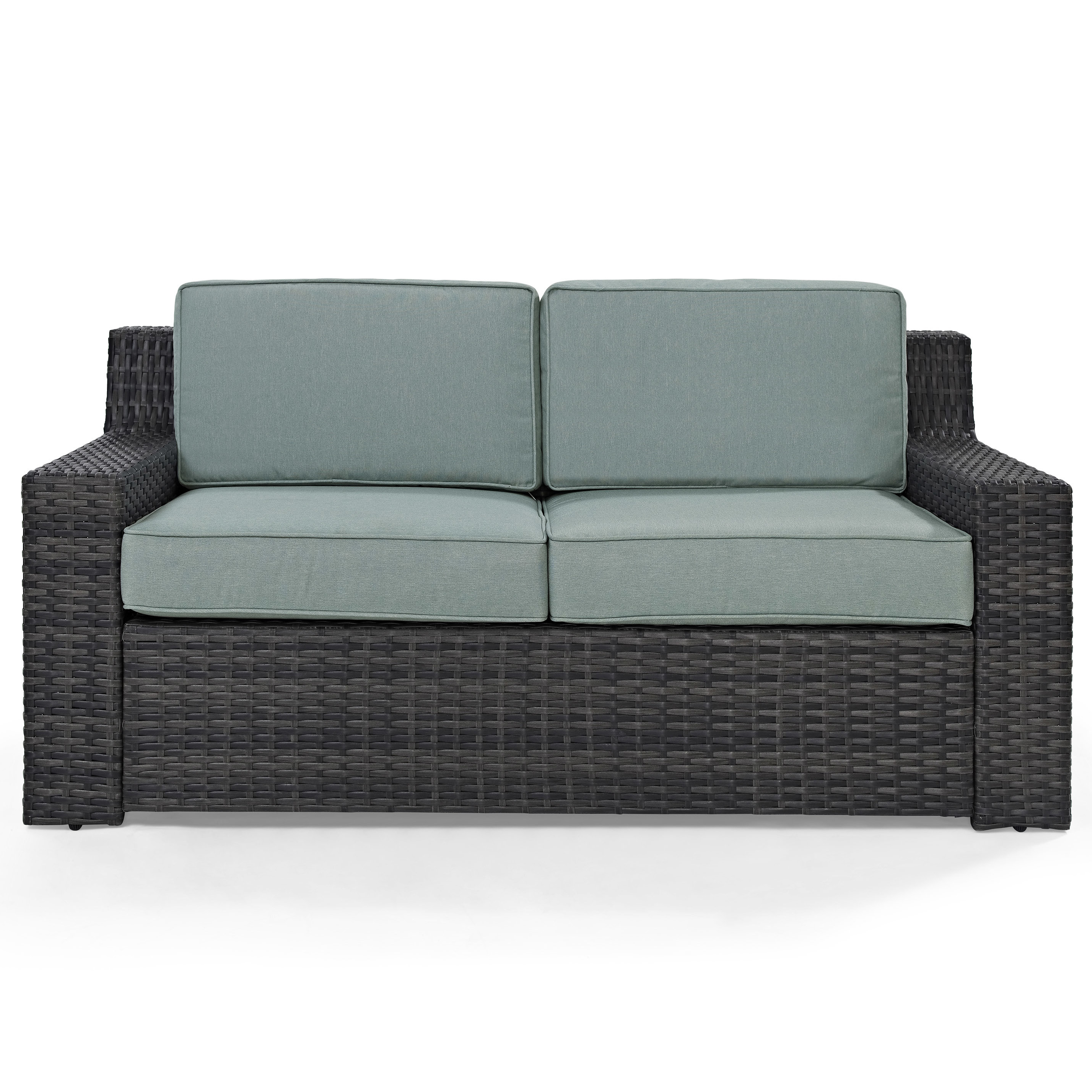 Avadi Outdoor Sofas & Ottomans 3 Piece Set Throughout 2019 Linwood Loveseat With Cushions (View 9 of 25)