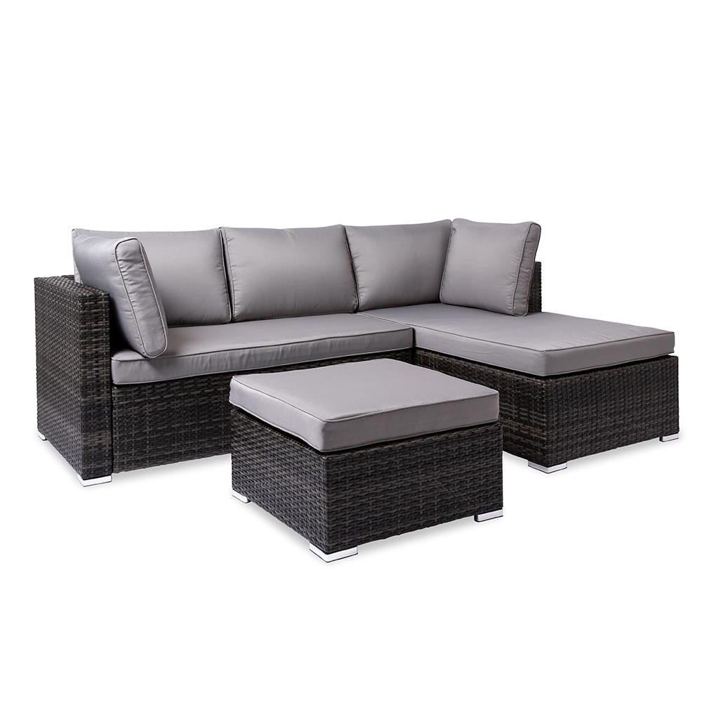 Avadi Outdoor Sofas & Ottomans 3 Piece Set With Regard To Well Known Outdoor Sofa And Ottoman – Budapestsightseeing (Gallery 4 of 25)