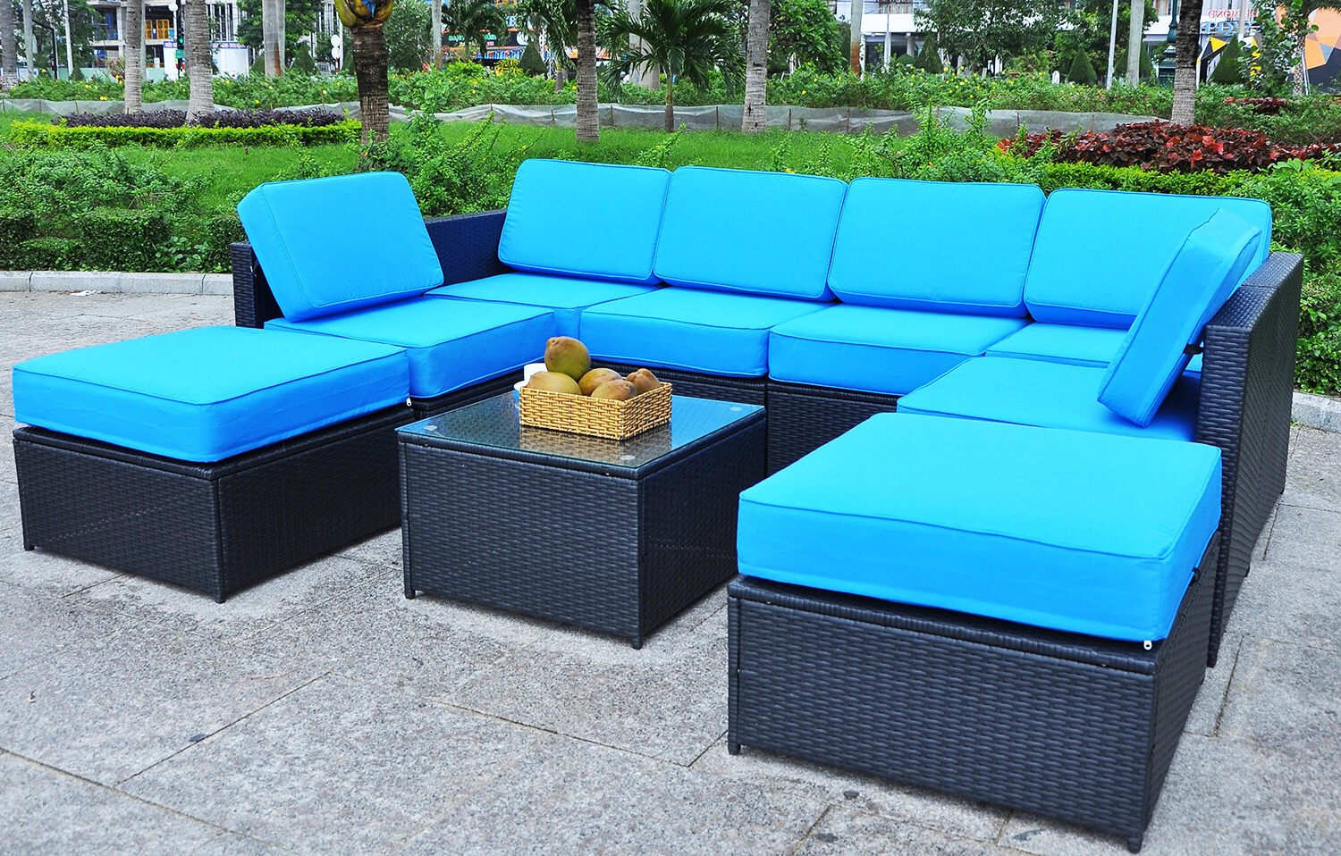 Baci Living Room For Well Liked Rowley Patio Sofas Set With Cushions (View 20 of 20)