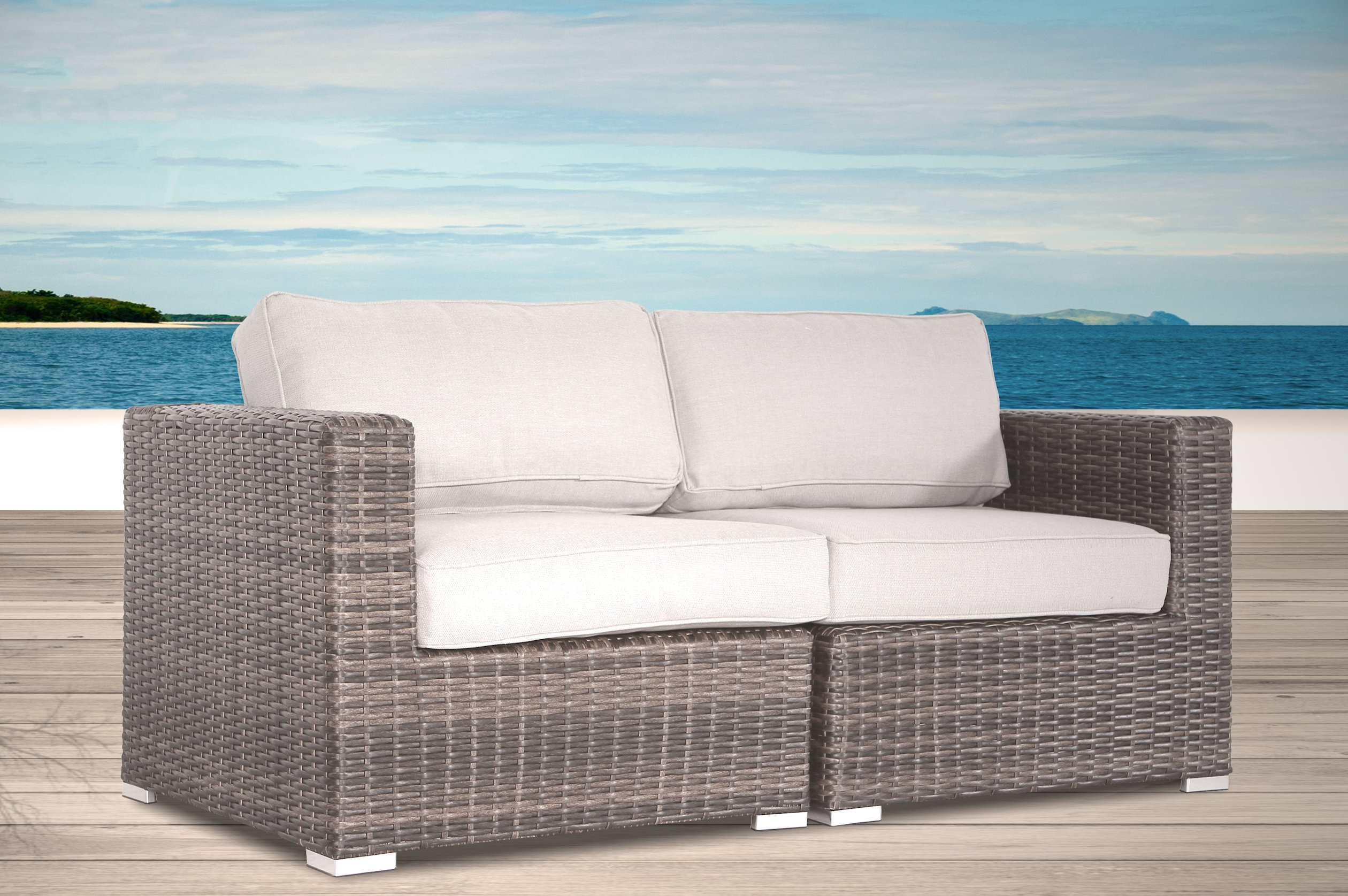 Beddingfield Loveseat With Cushions For Well Known Provencher Patio Loveseats With Cushions (View 3 of 20)