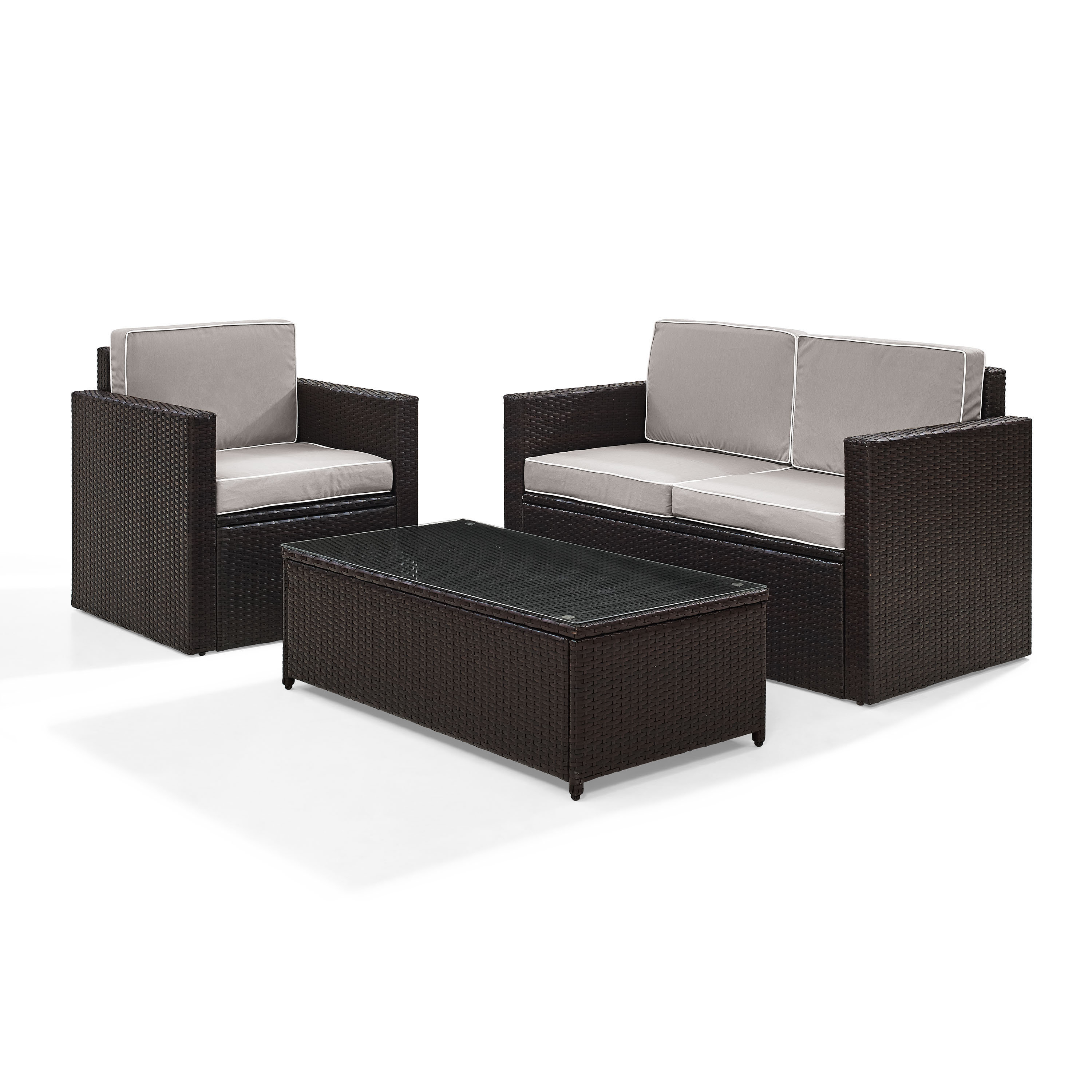 Belton Loveseats With Cushions In Well Known Belton 3 Piece Rattan Sofa Set With Cushions (View 5 of 25)