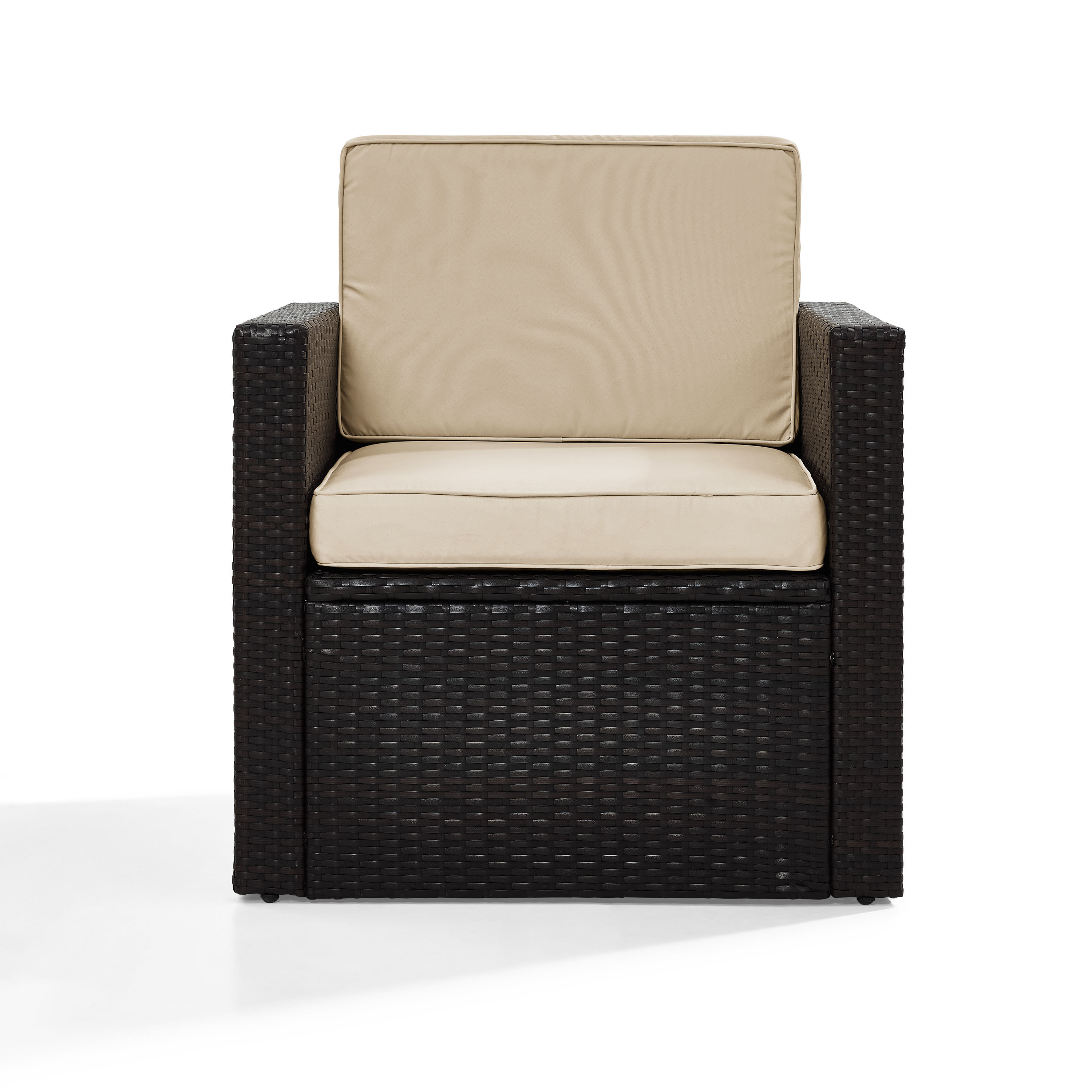 Belton Outdoor Wicker Deep Seating Patio Chair With Cushion Within Favorite Stapleton Wicker Resin Patio Sofas With Cushions (View 3 of 20)
