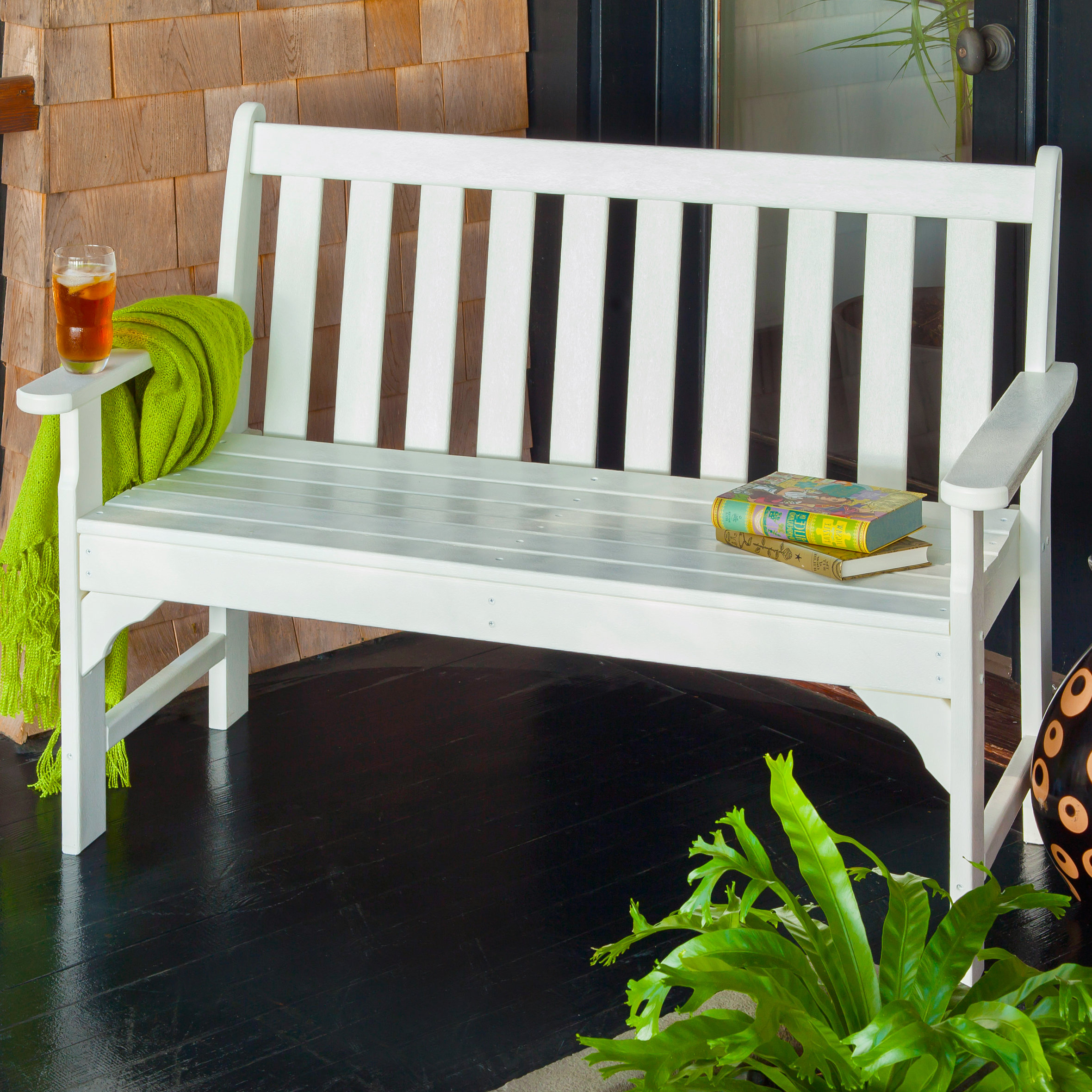 Bence Plastic Outdoor Garden Benches Regarding Latest Polywood® Vineyard Plastic Garden Bench (View 16 of 25)