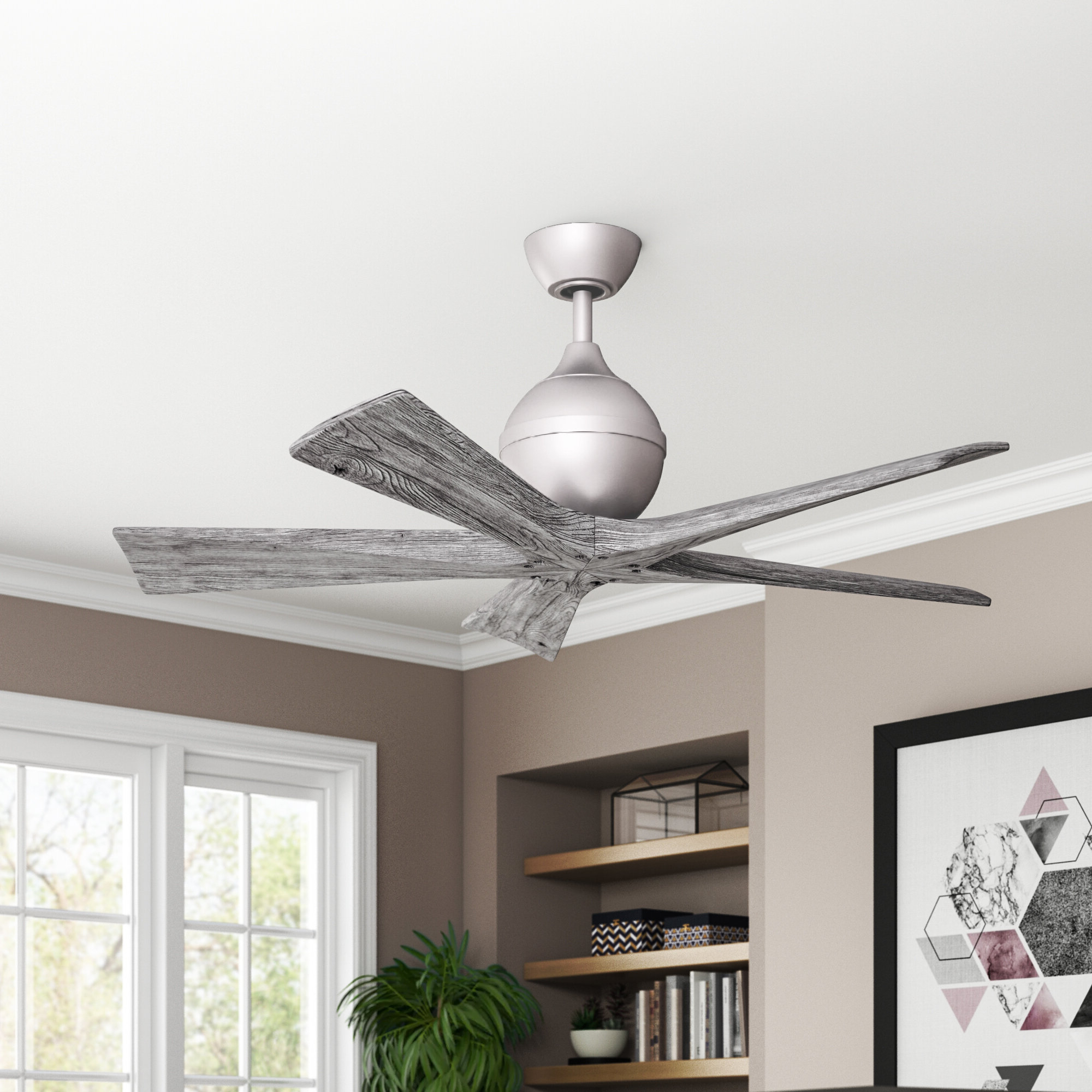 "Best And Newest 60"" Bernard 3 Blade Ceiling Fan With Remote Regarding Morton 3 Blade Ceiling Fans (View 5 of 20)"