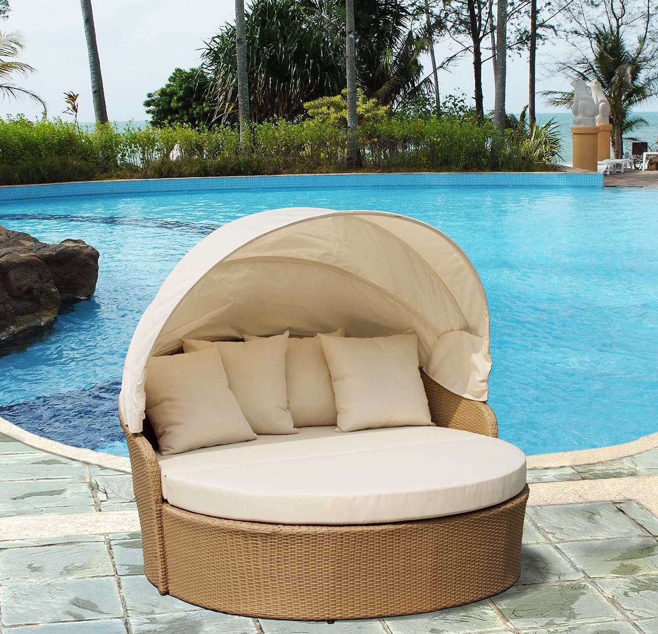 Best And Newest Behling Canopy Patio Daybeds With Cushions Regarding Furniture Outdoor Furniture (View 7 of 25)