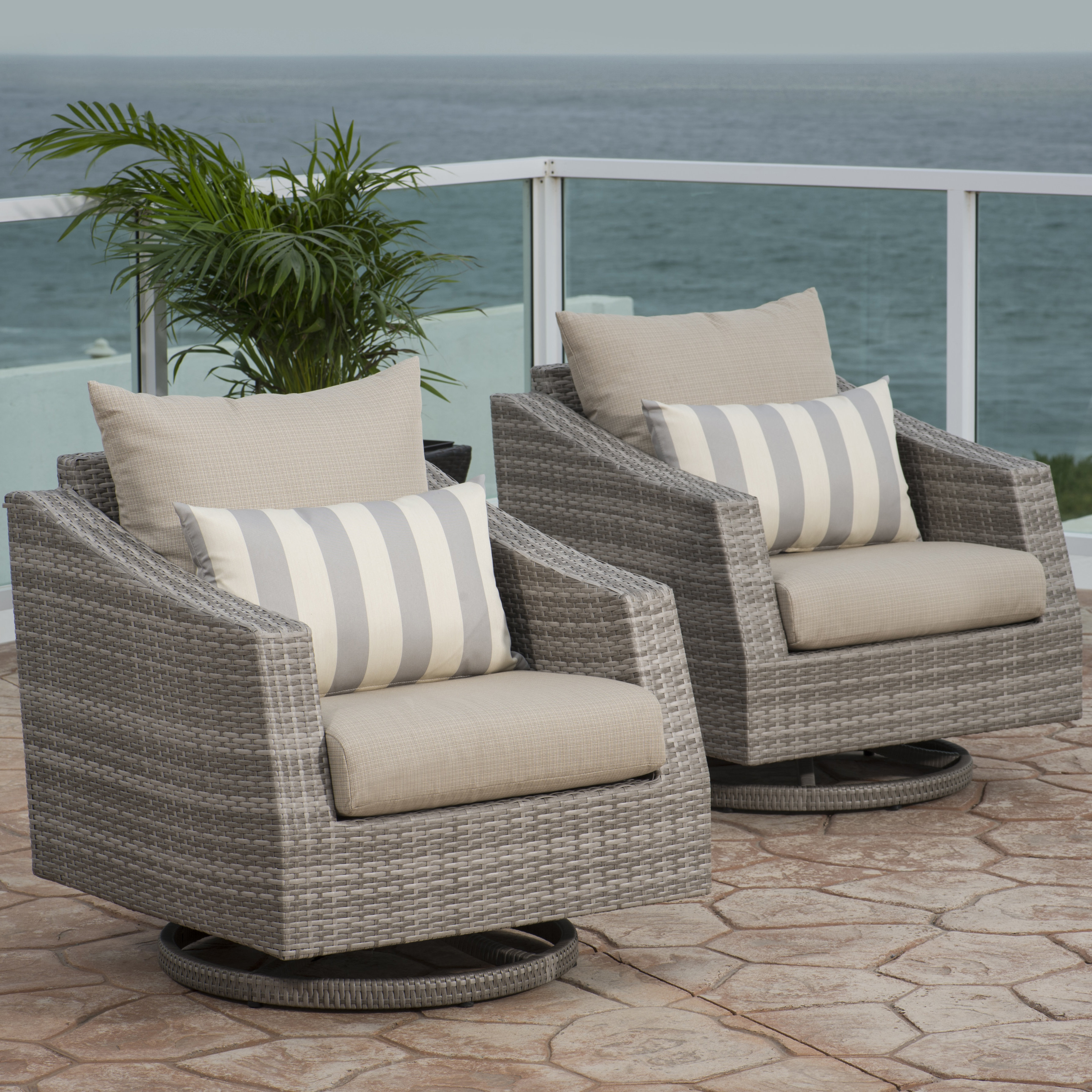 Best And Newest Castelli Patio Sofas With Sunbrella Cushions Pertaining To Castelli Swivel Patio Chair With Sunbrella Cushions (View 1 of 20)
