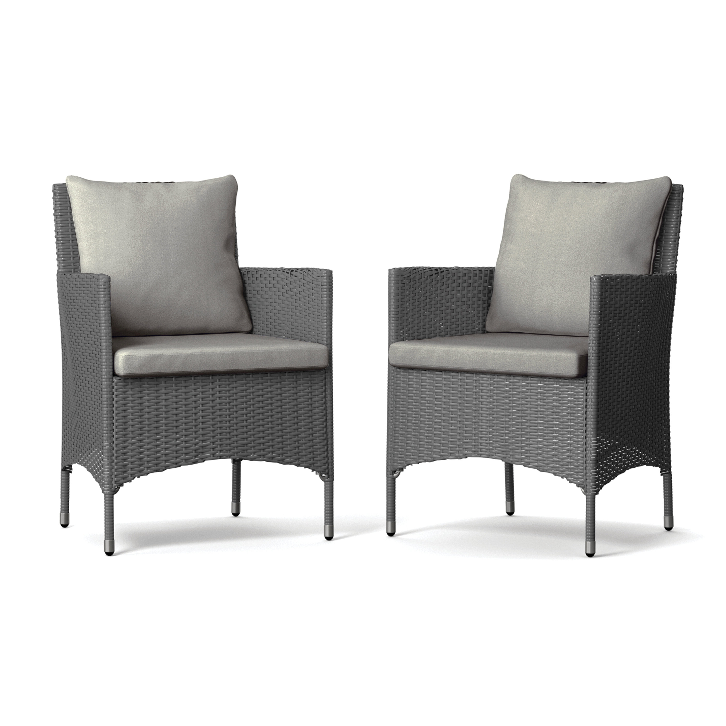 Best And Newest Ellie Patio Dining Chair With Cushion Pertaining To Keiran Patio Sofas With Cushions (View 17 of 20)