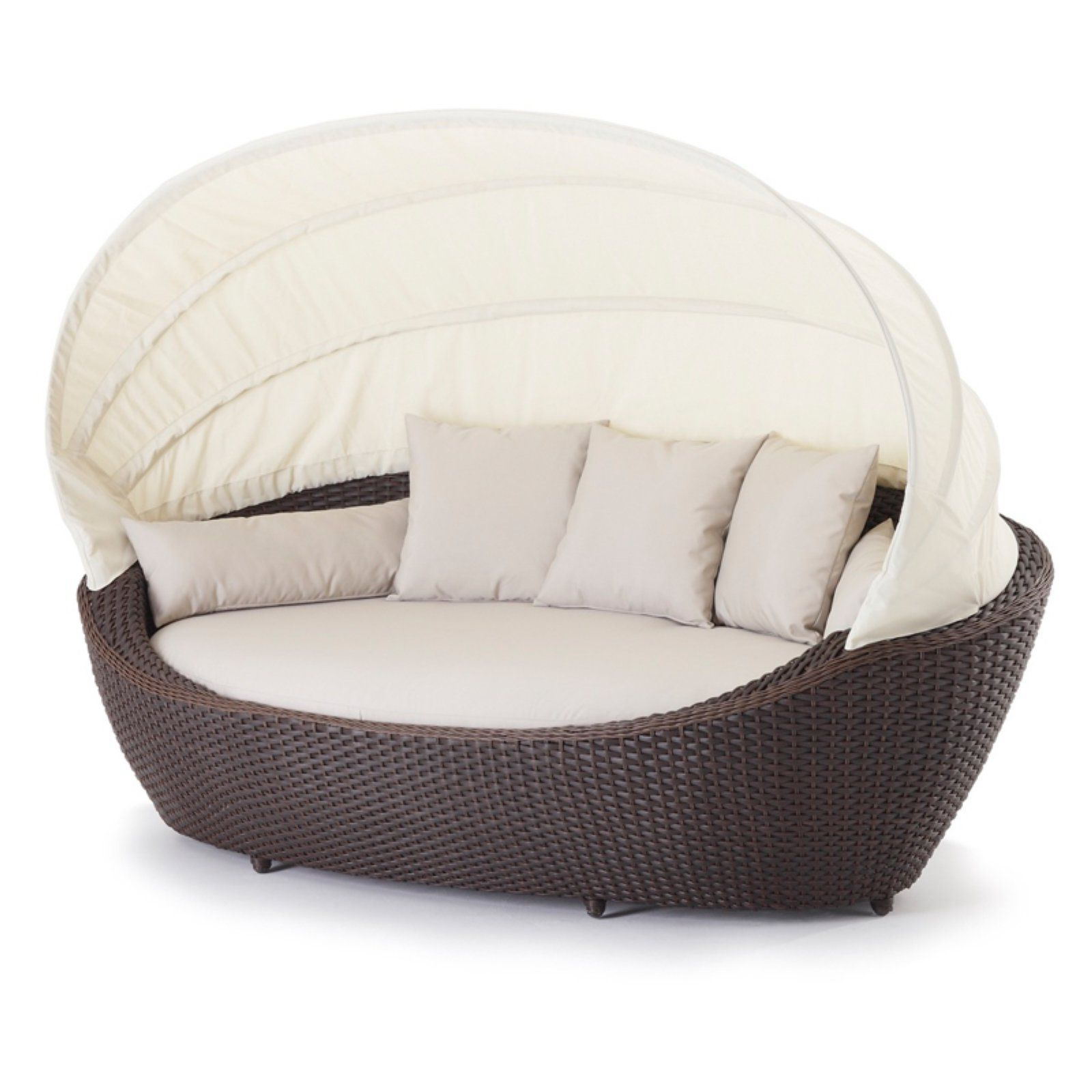 Best And Newest Gilbreath Daybeds With Cushions With Regard To Outdoor Domus Ventures Paradise Large Wicker Patio Daybed (View 4 of 20)