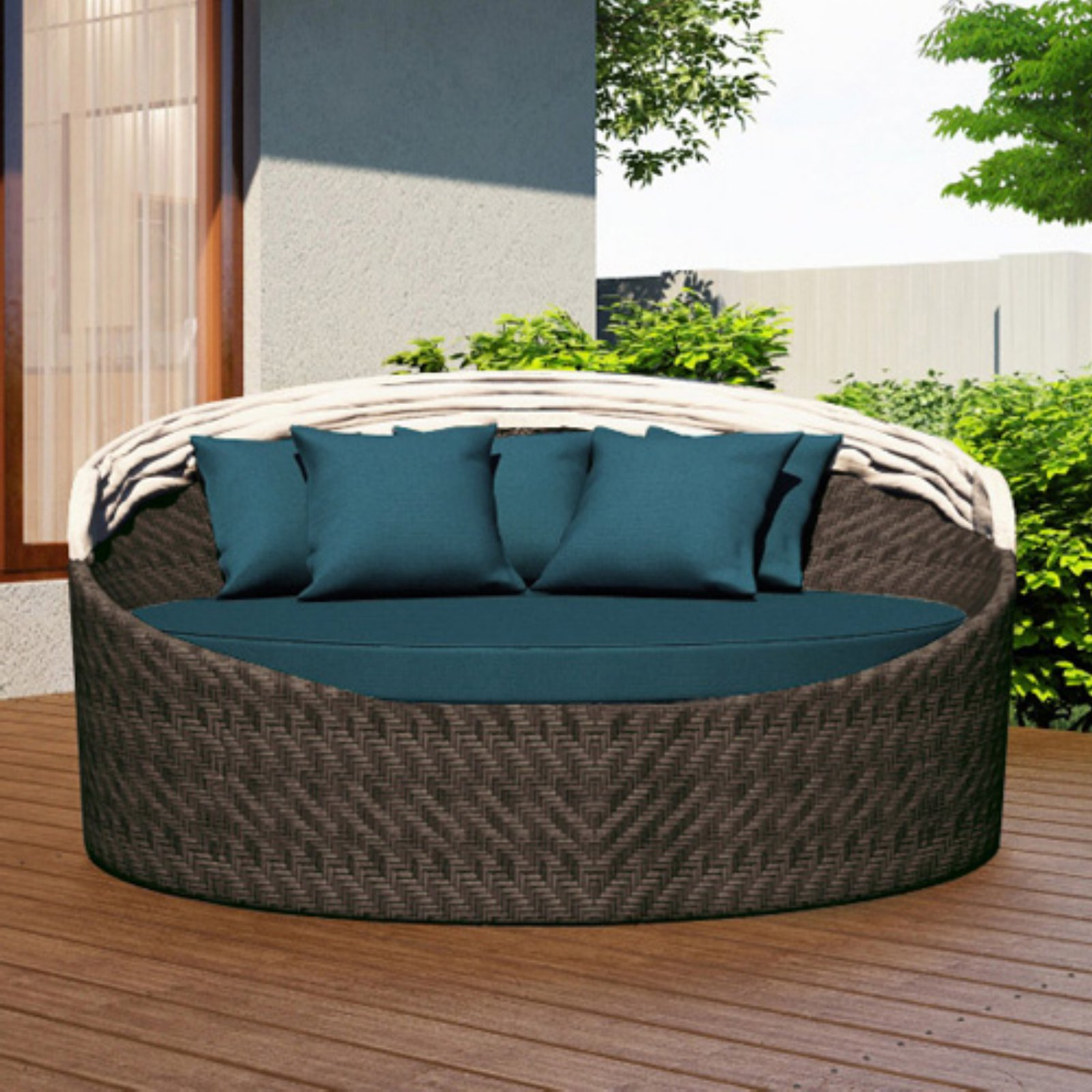 Best And Newest Harmonia Living Wink Outdoor Canopy Daybed Cast Lagoon Pertaining To Keiran Patio Daybeds With Cushions (View 18 of 20)