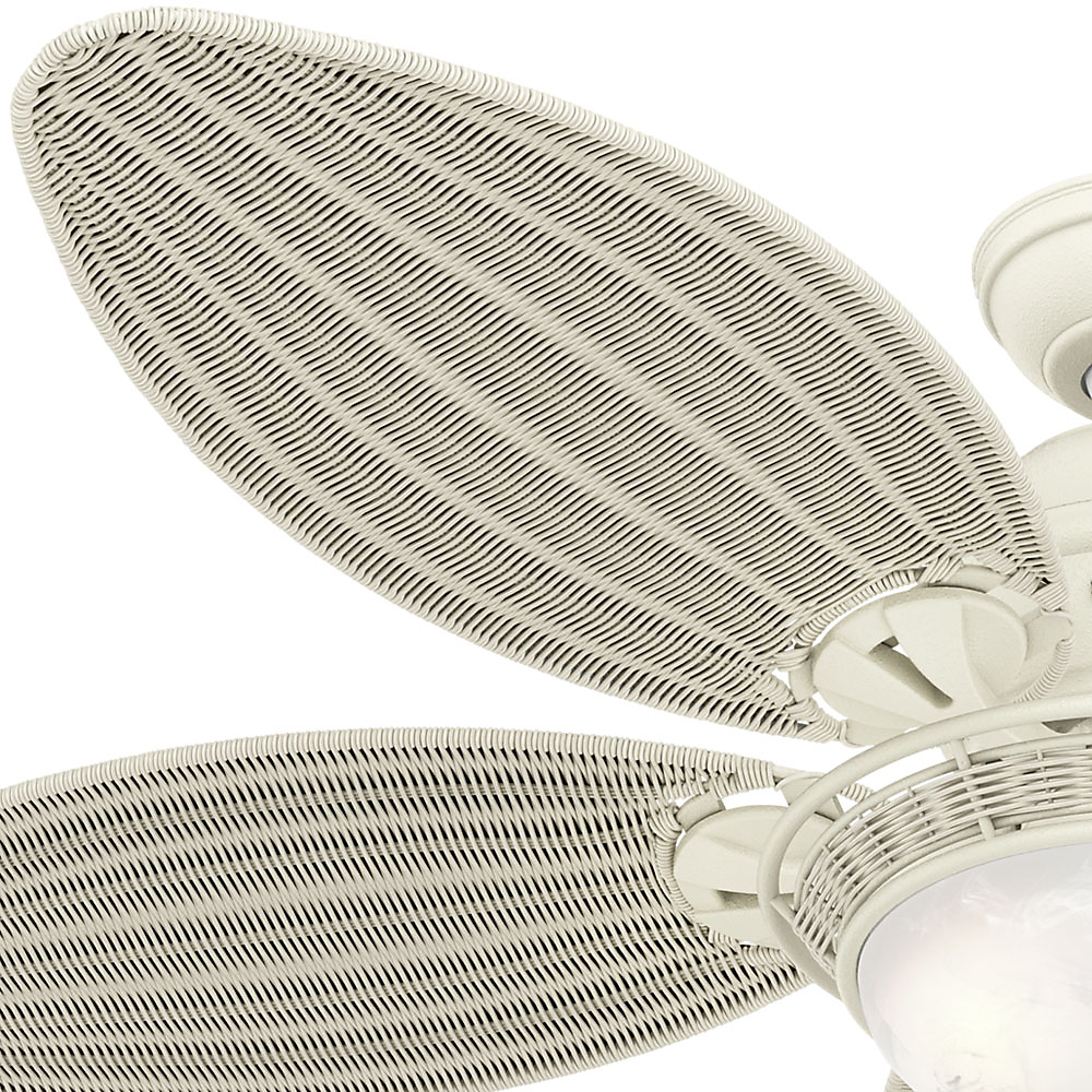 "Best And Newest Hunter 54"" Caribbean Breeze Textured White Ceiling Fan With Pertaining To Caribbean Breeze 5 Blade Ceiling Fans (View 3 of 20)"