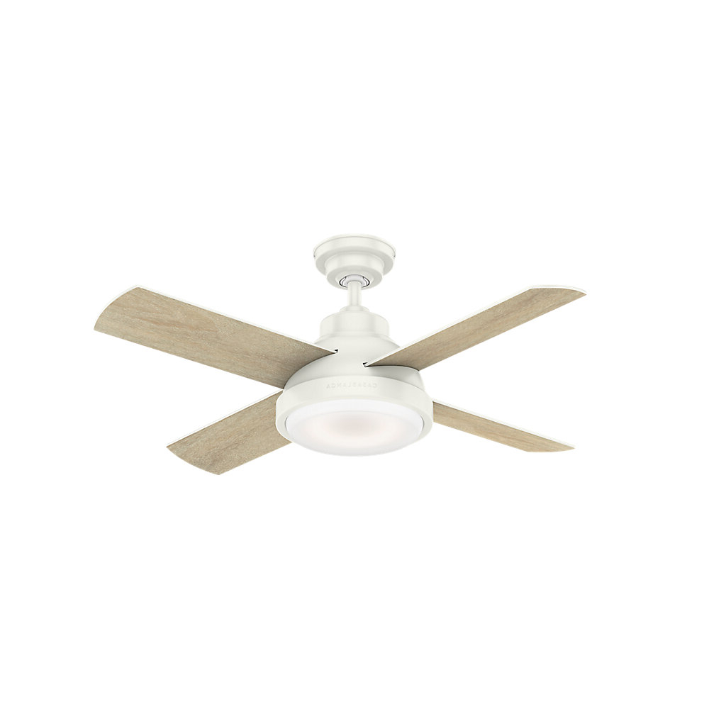 "Best And Newest Loki 4 Blade Led Ceiling Fans For 44"" Levitt 4 Blade Led Ceiling Fan With Remote, Light Kit Included (Gallery 6 of 20)"