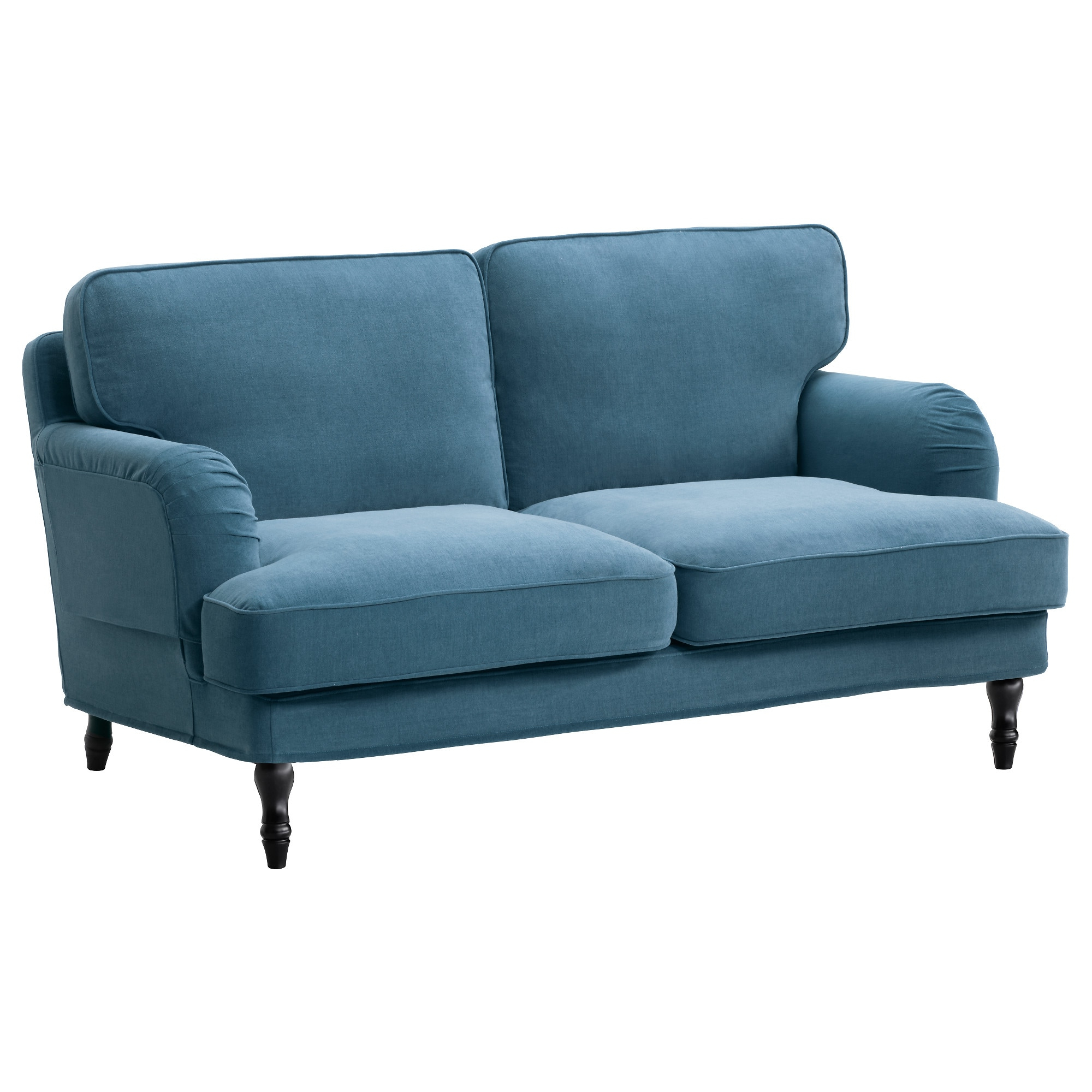 Best And Newest Owens Loveseats With Cushion Regarding Stocksund Loveseat, Ljungen Blue, Black/wood (Gallery 10 of 20)