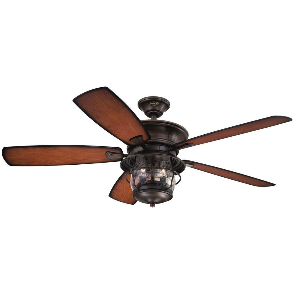 "Best And Newest Roberts 5 Blade Ceiling Fans Pertaining To 52"" Quebec 5 Blade Ceiling Fan, Light Kit Included (View 14 of 20)"