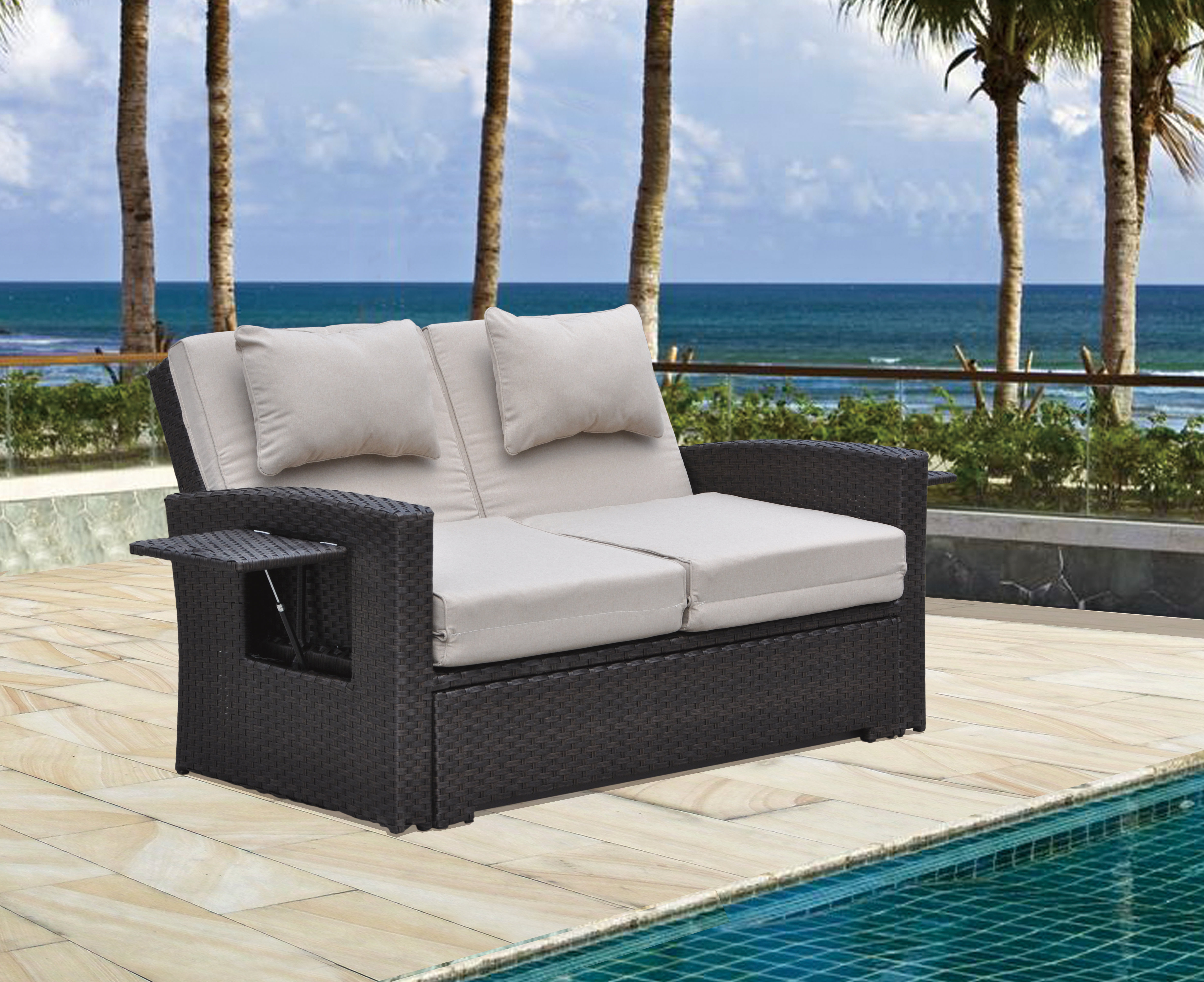 Betts Outdoor Loveseat With Cushions Inside Most Up To Date Loggins Loveseats With Cushions (View 2 of 20)
