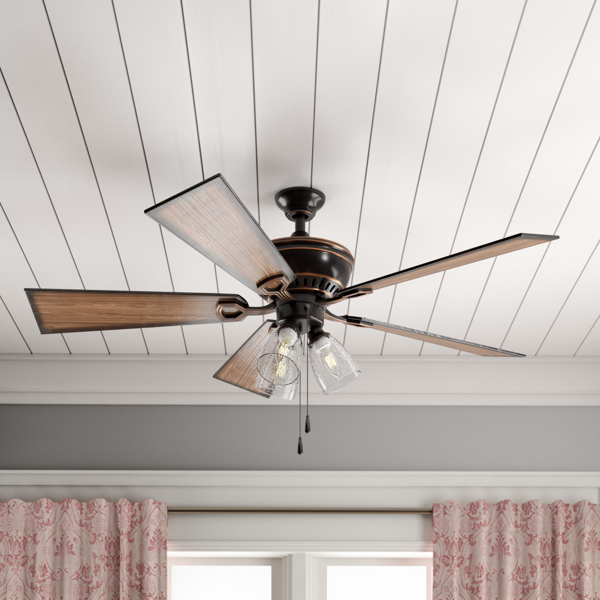 """Birch Lane™ Heritage 52"""" O'hanlon 5 Blade Led Ceiling Fan, Light Kit  Included Intended For Most Up To Date O'hanlon 5 Blade Led Ceiling Fans (View 4 of 20)"""