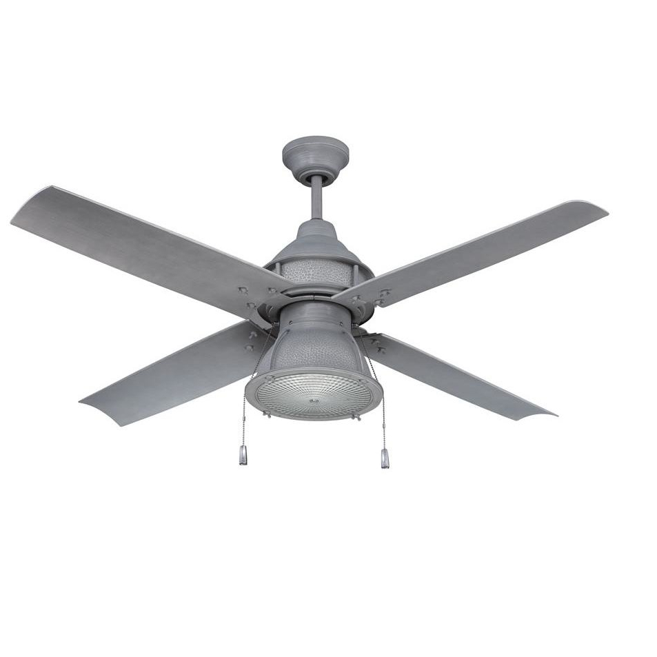 "Blomquist 5 Blade Outdoor Ceiling Fans Throughout Well Known 52"" Martika 4 Blade Outdoor Led Ceiling Fan, Light Kit Included (View 18 of 20)"