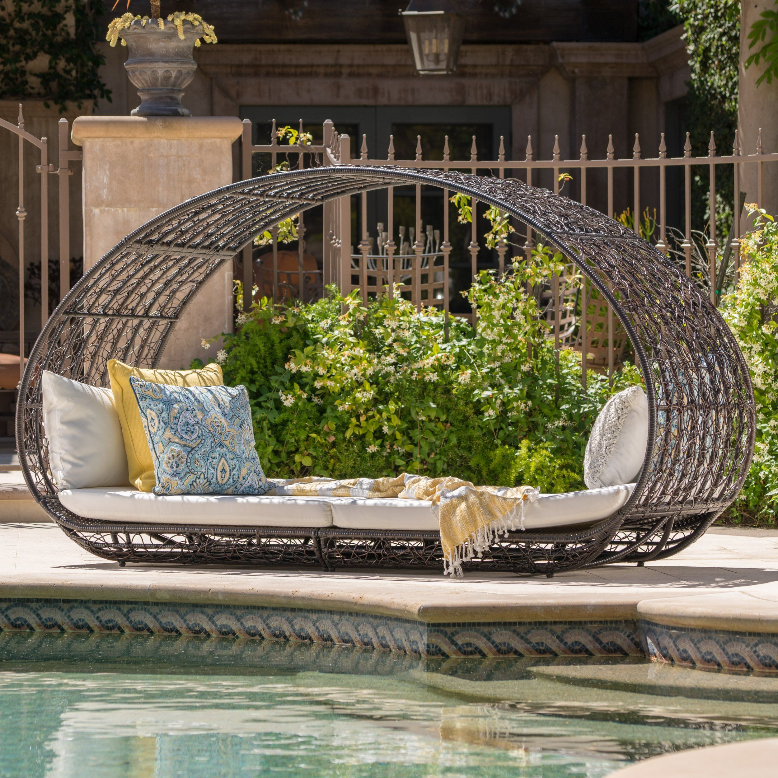 Boca Grande Outdoor Daybed With Cushionschristopher Throughout Current Brennon Cube Patio Daybeds With Cushions (Gallery 11 of 25)