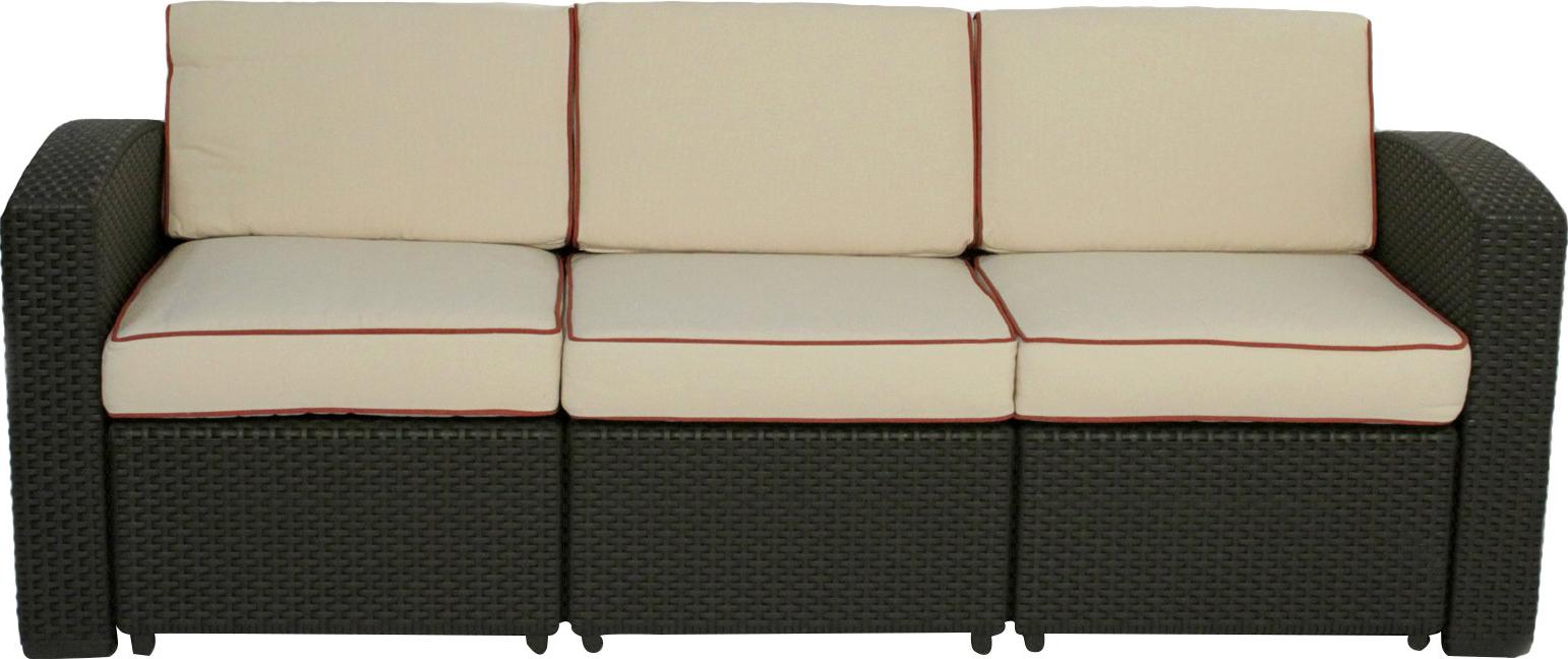 Brayden Studio Loggins Patio Sofa With Cushions & Reviews Within Trendy Loggins Patio Sofas With Cushions (View 3 of 20)