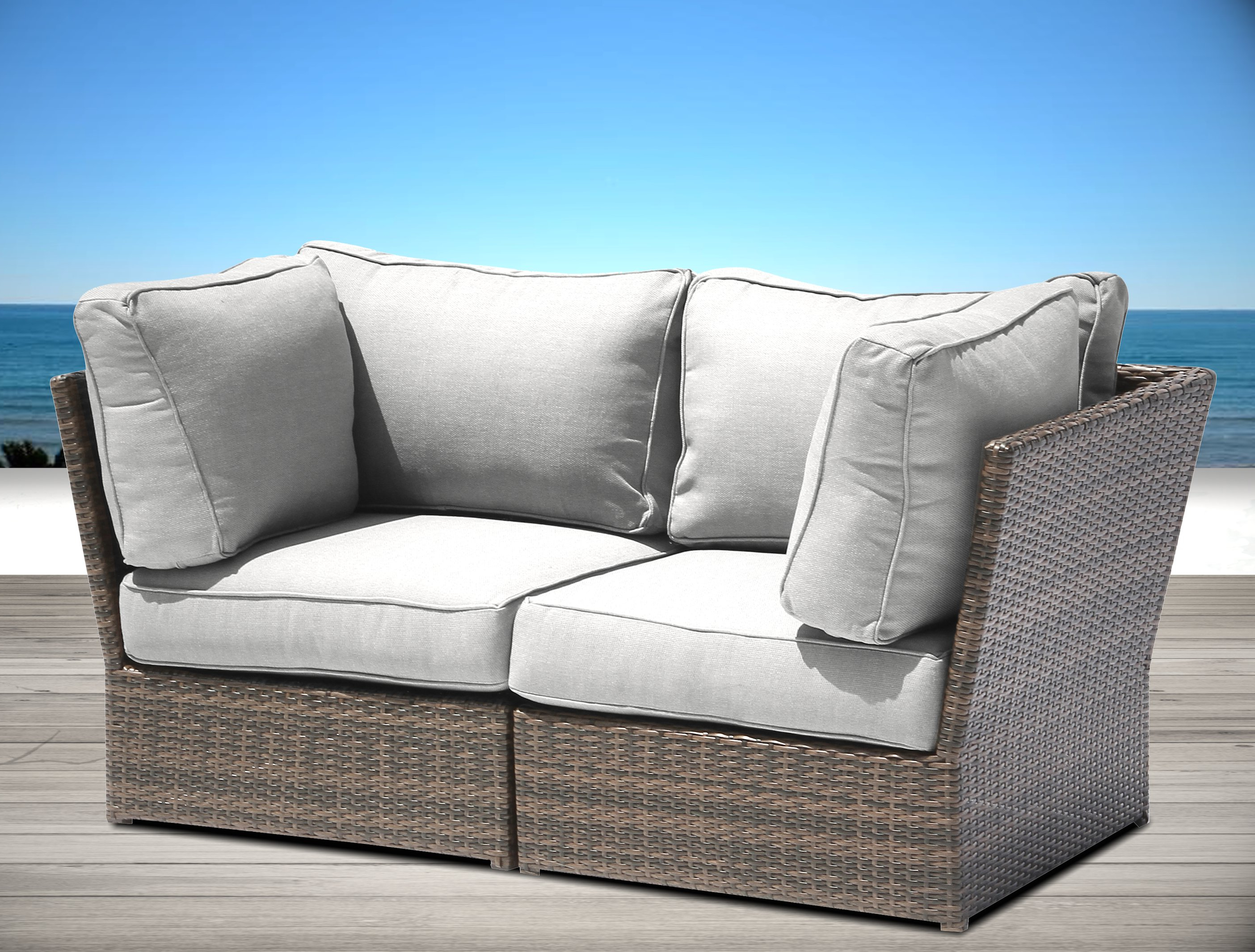 Brayden Studio Simmerman Loveseat With Cushions Regarding Widely Used Castelli Loveseats With Cushions (View 11 of 20)