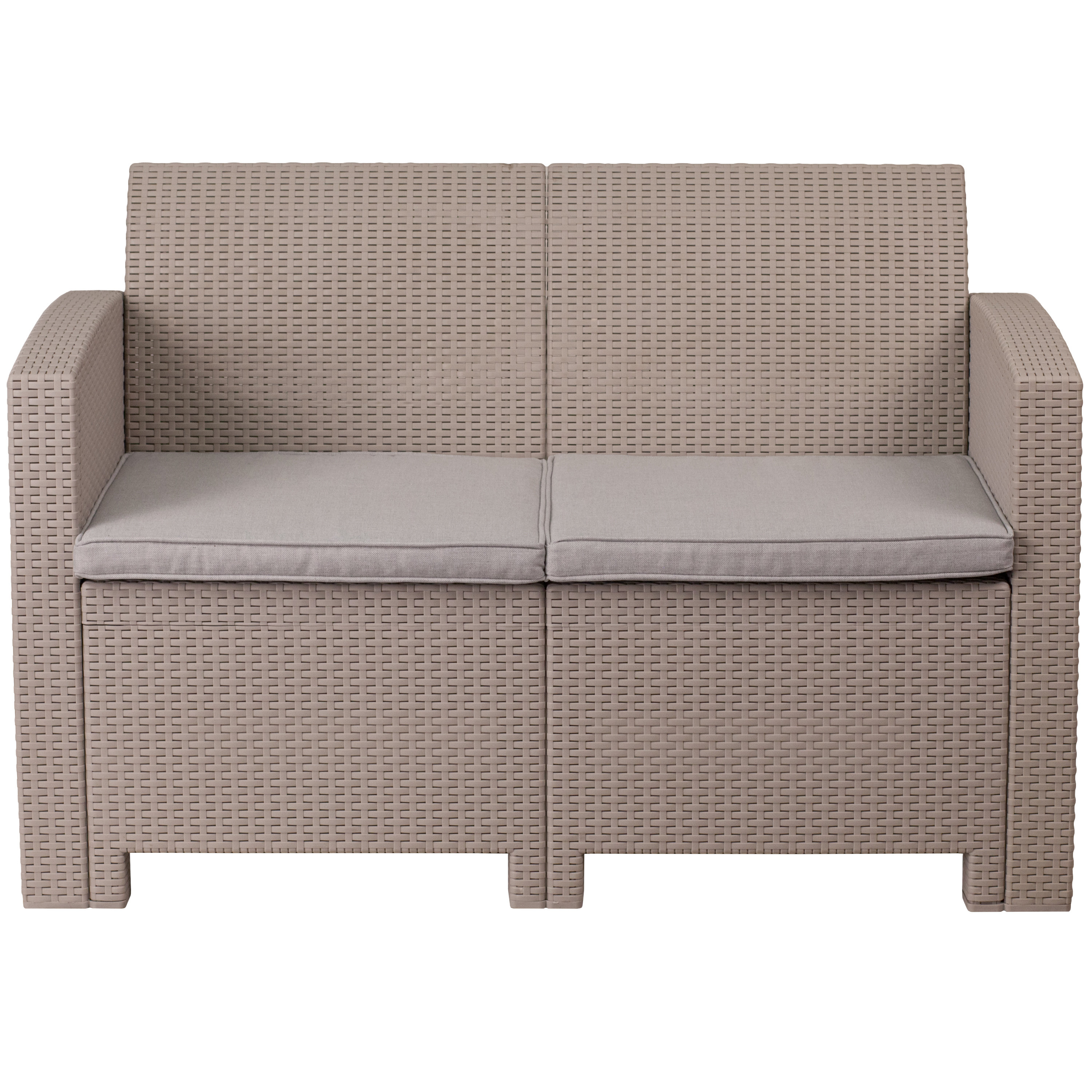 Breakwater Bay Stockwell Loveseat With Cushions & Reviews Within Newest Clifford Loveseats With Cushion (View 2 of 20)