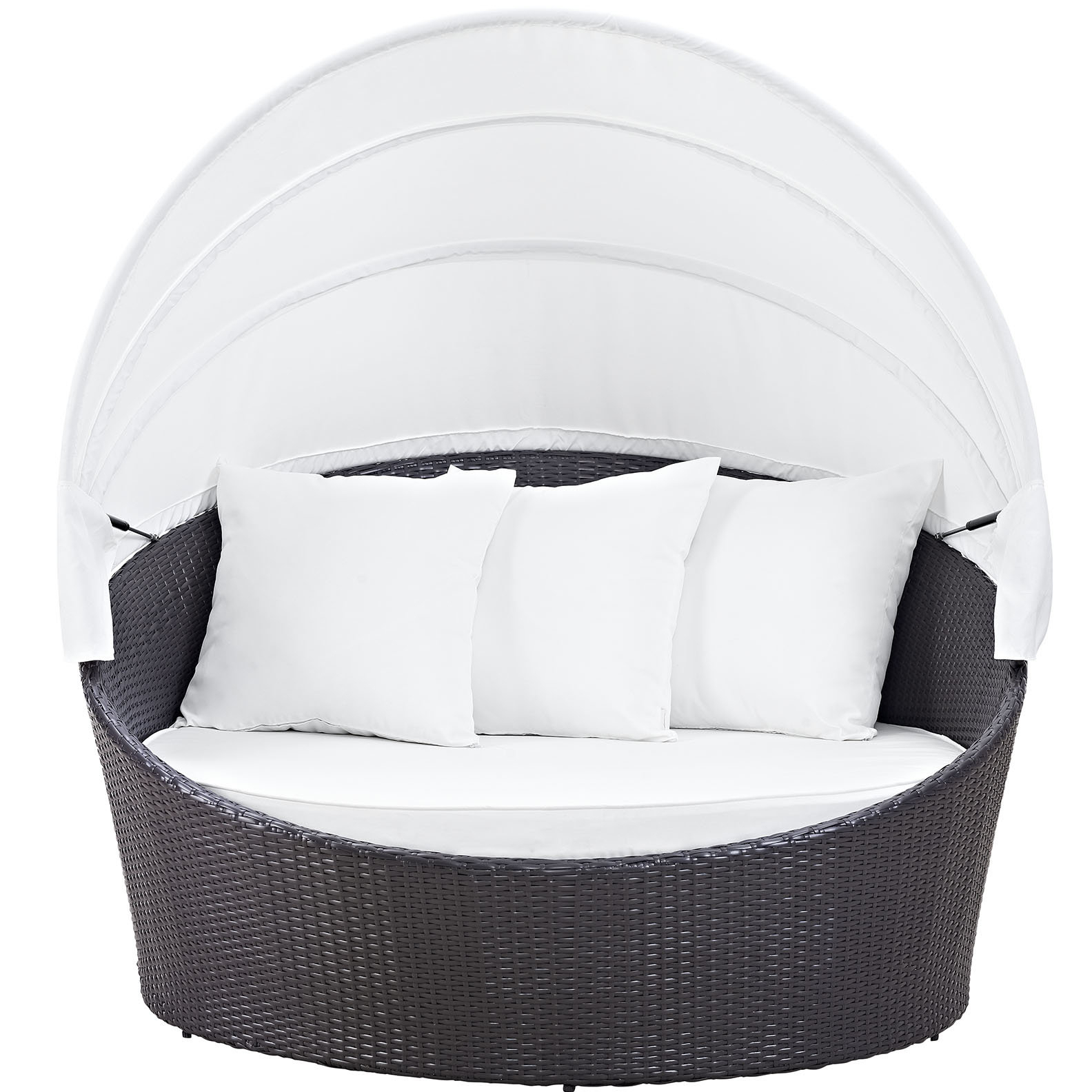 Brentwood Canopy Patio Daybed With Cushions & Reviews (View 3 of 20)