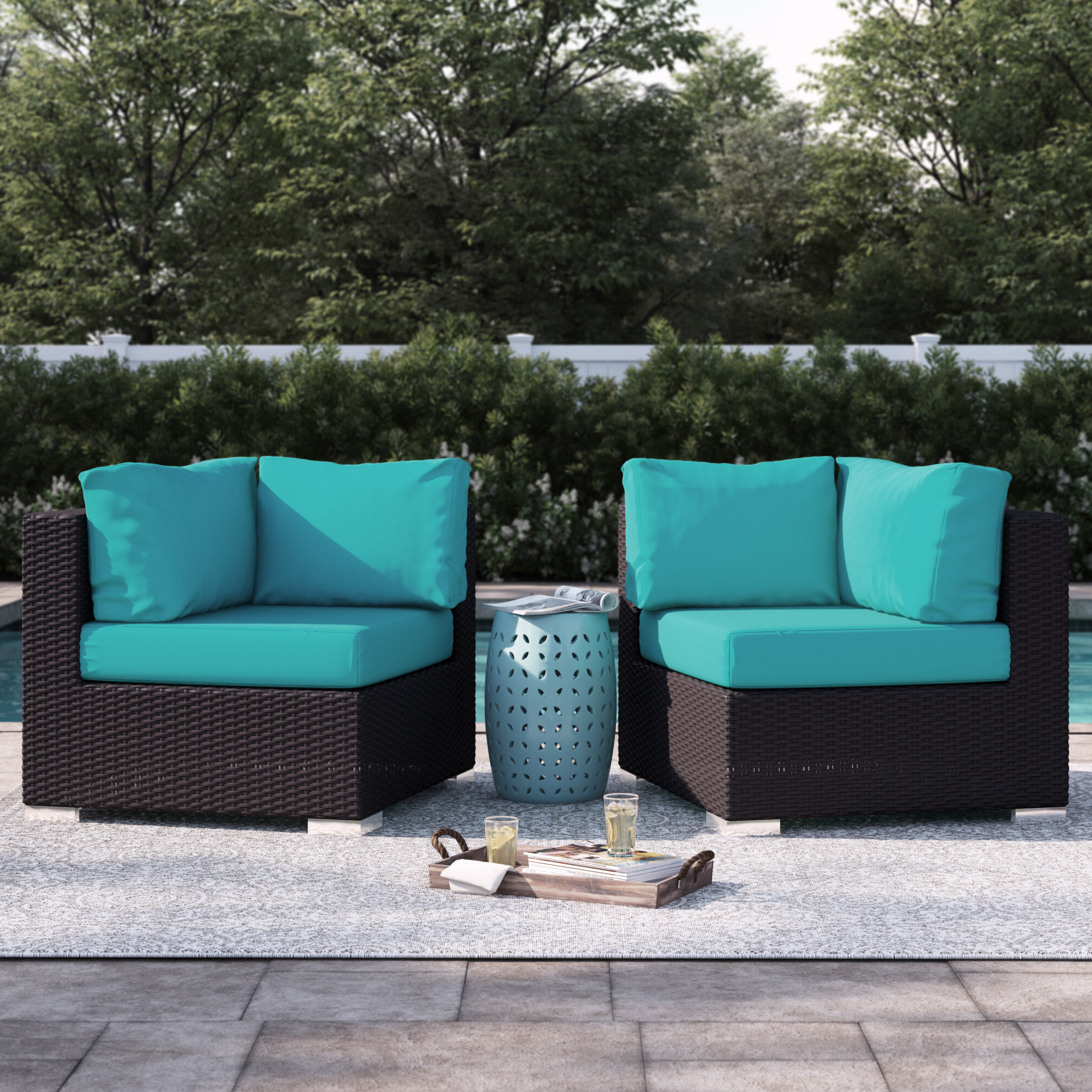 Brentwood Corner Chair With Cushions Inside Widely Used Brentwood Patio Sofas With Cushions (View 6 of 18)