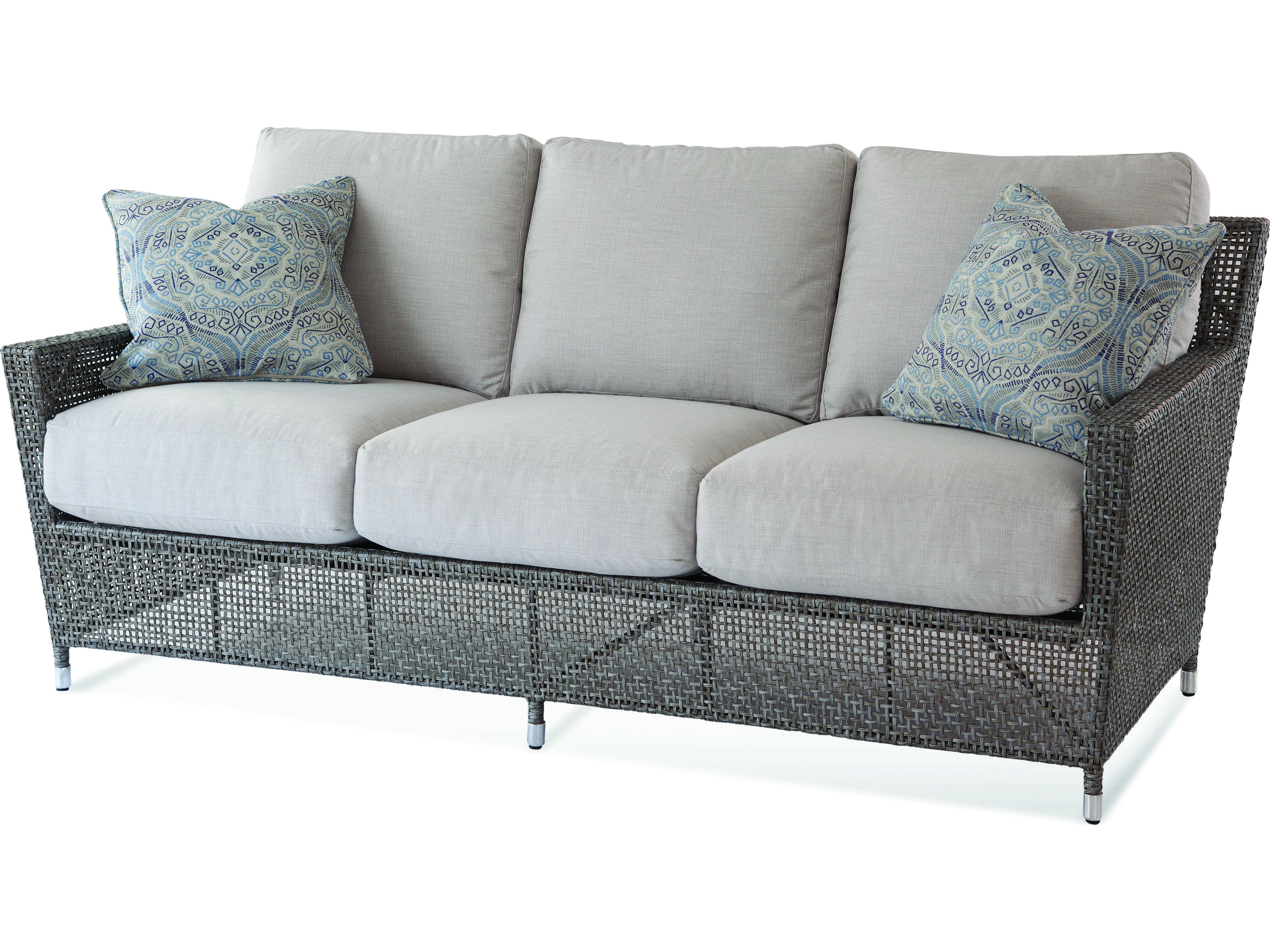 Brunswick Teak Loveseats With Cushions Pertaining To Popular Braxton Culler Edisto Pewter Loveseat Sofa (Gallery 17 of 20)
