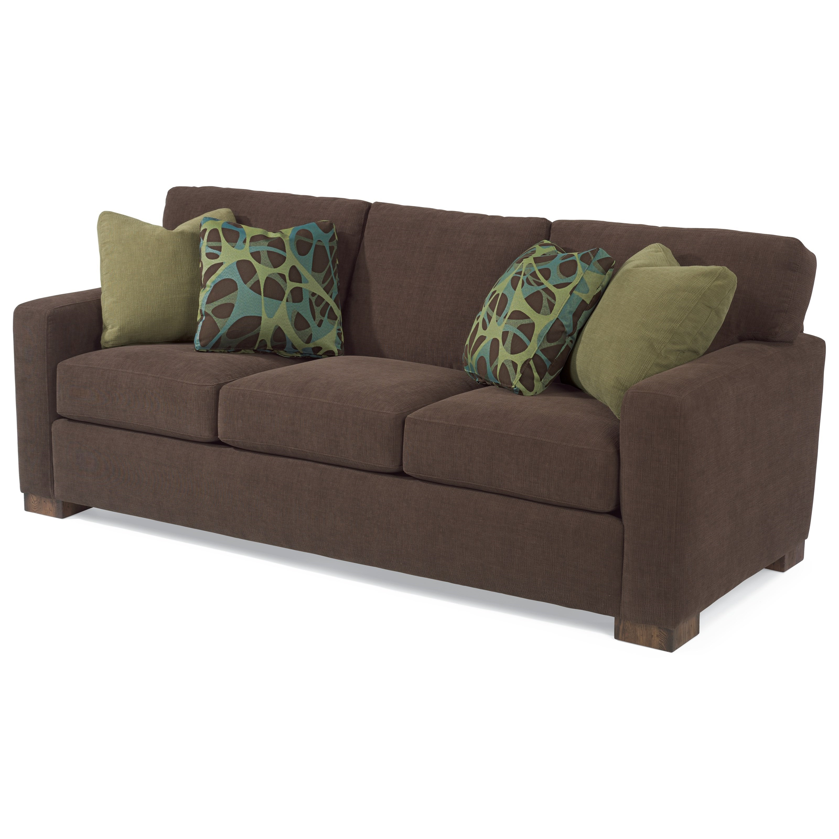 Bryant Loveseats With Cushion In Most Popular Flexsteel Bryant 7399 31 Contemporary Sofa With Loose Pillow (View 4 of 20)