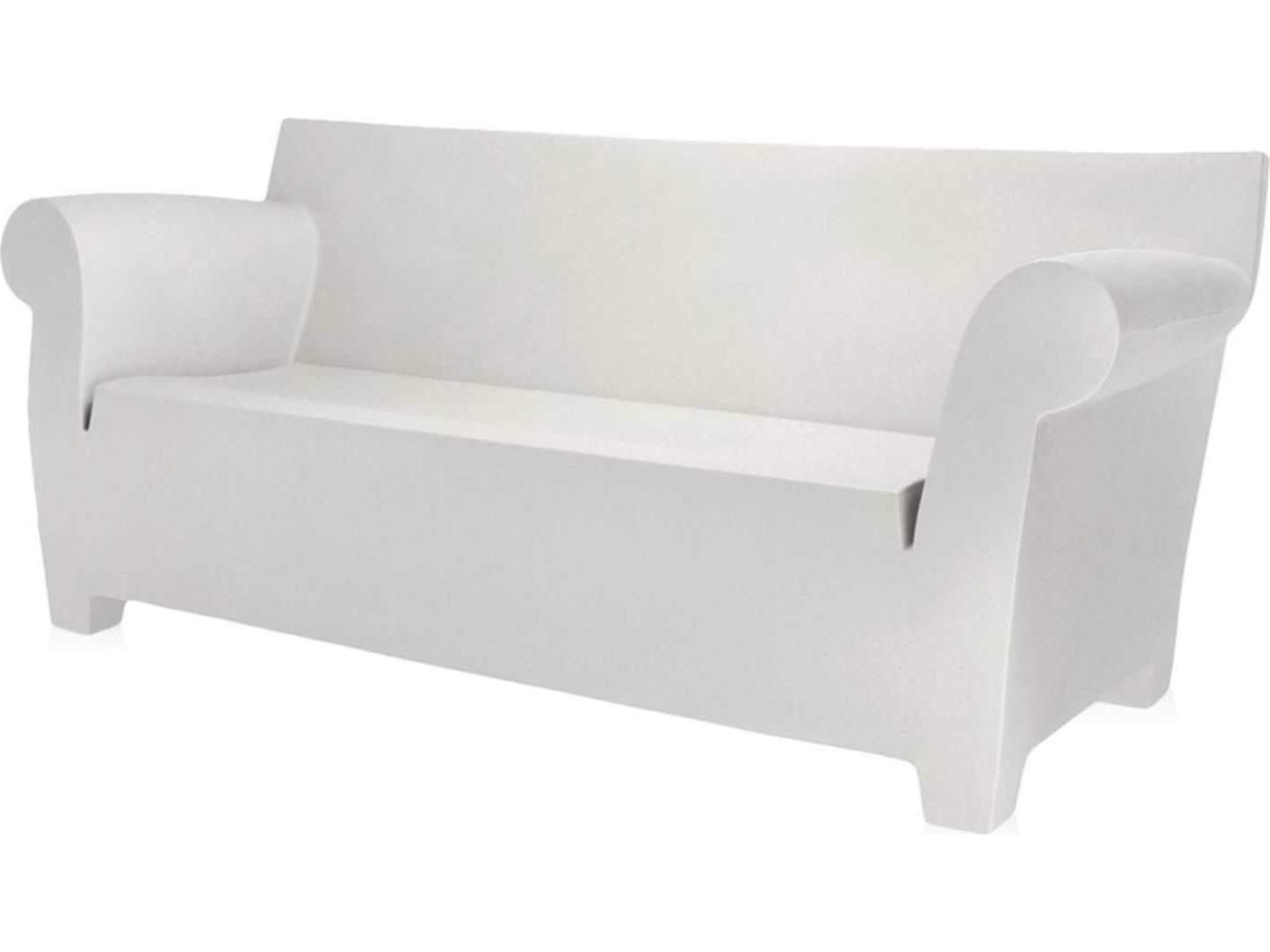 Bubble Club Sofas Intended For Well Known Kartell Bubble Club Zinc White Sofa (View 8 of 20)